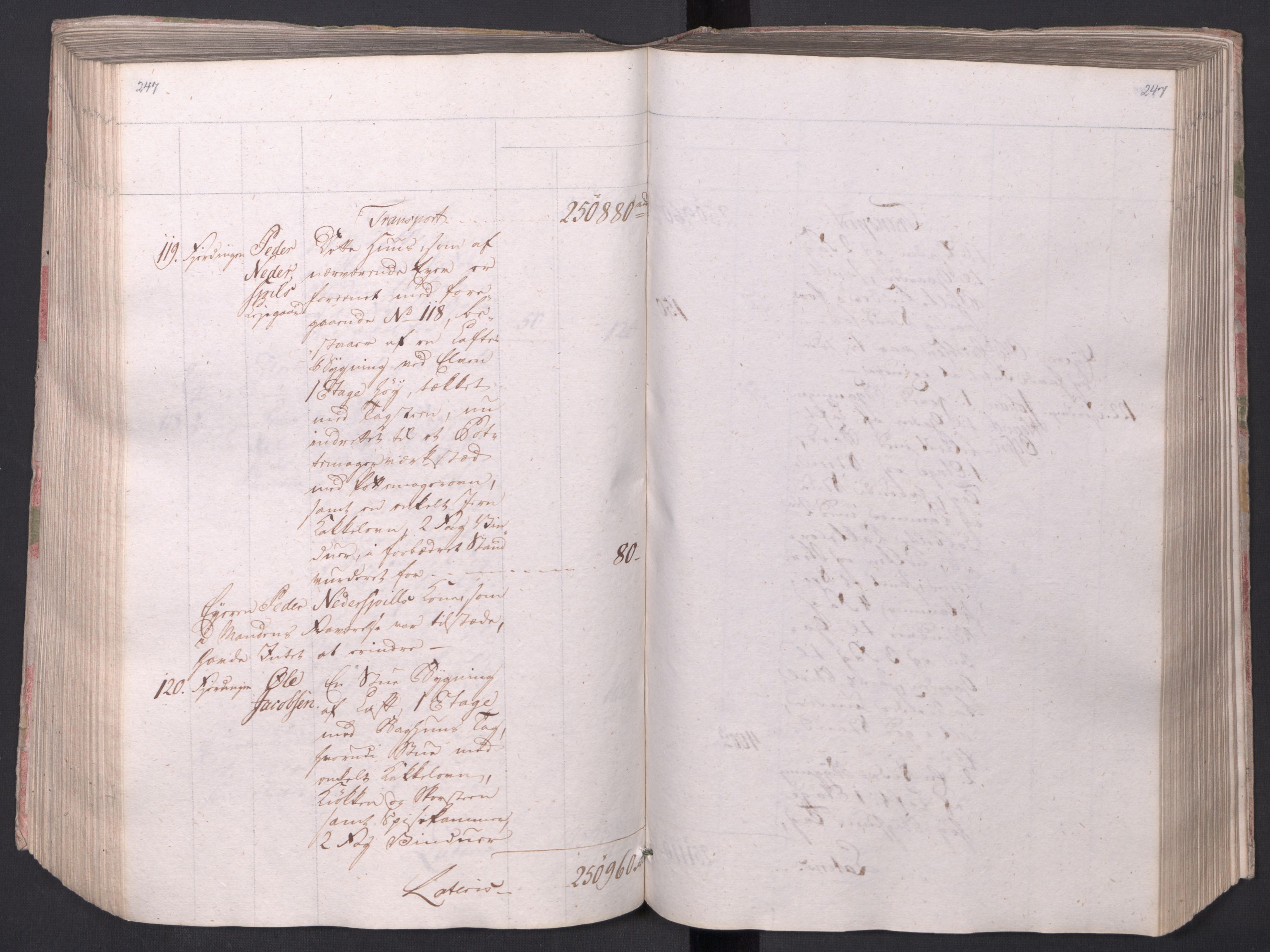 SAO, Kristiania stiftamt, I/Ia/L0015: Branntakster, 1797, s. 247