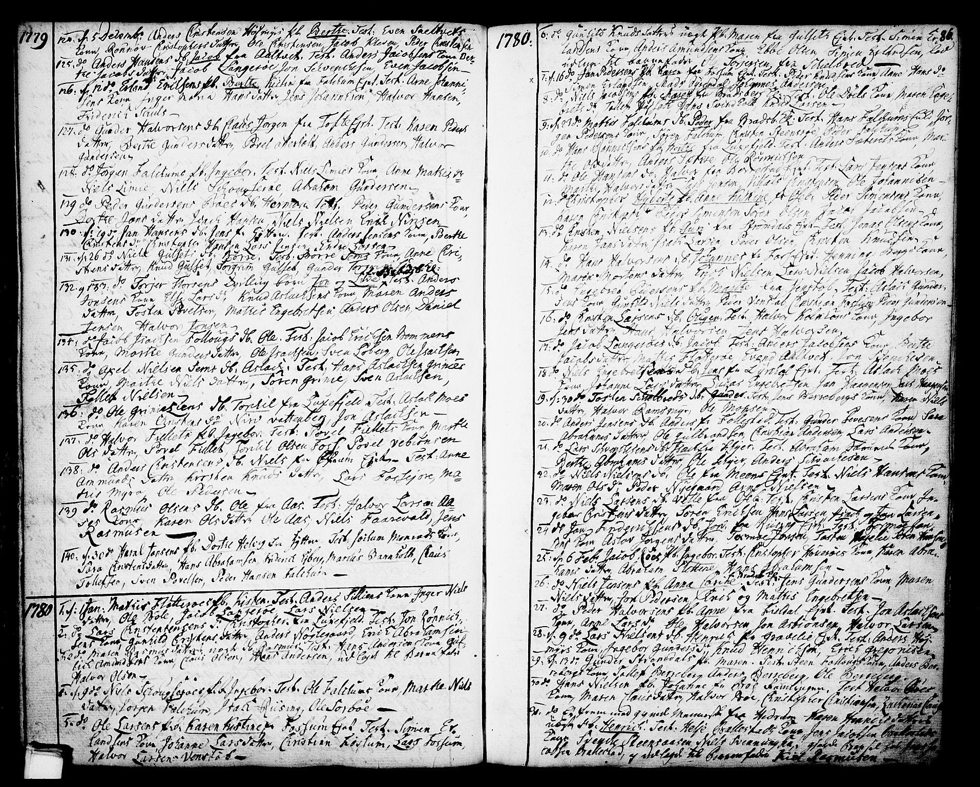 SAKO, Gjerpen kirkebøker, F/Fa/L0002: Ministerialbok nr. 2, 1747-1795, s. 86