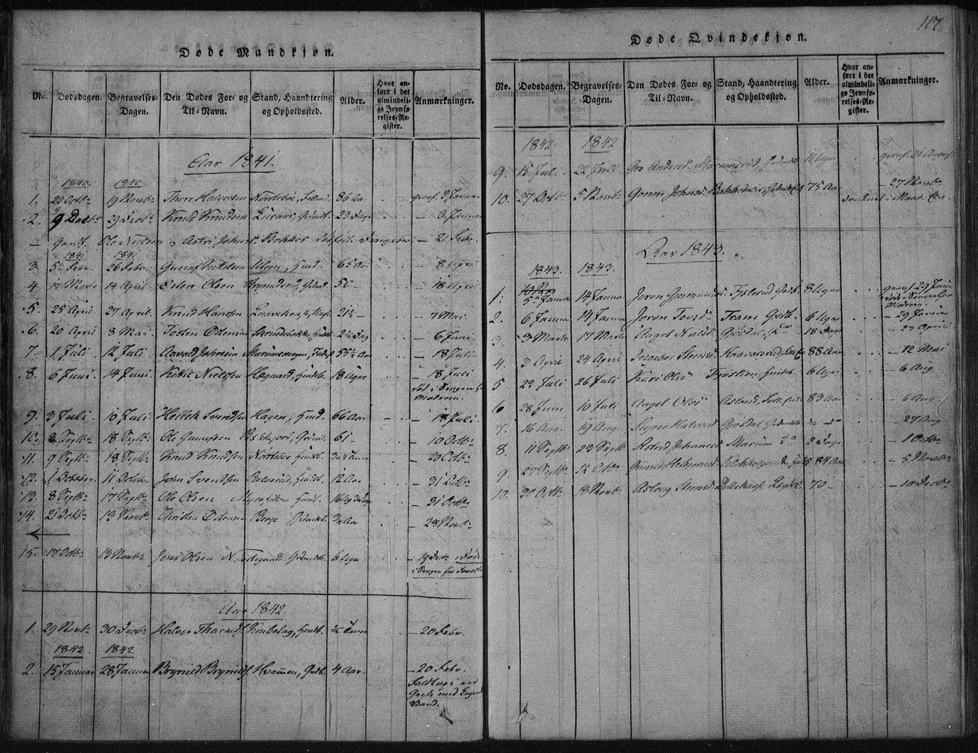 SAKO, Tinn kirkebøker, F/Fa/L0004: Ministerialbok nr. I 4, 1815-1843, s. 117