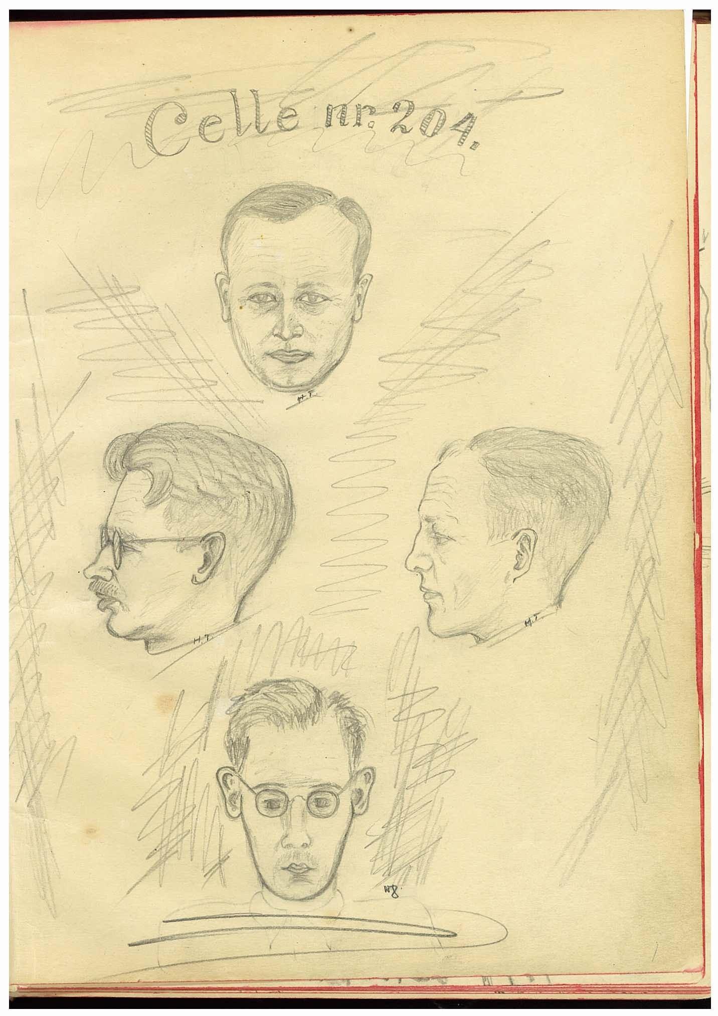 RA, Molvig, Magne, F/L0001: Minnebok med dagboksopptegnelser fra Grini fangeleir 15.08-21.10. 1941, og brev, postkort og avisutklipp (uttatt fra fotoalbum U1), 1941, s. 1
