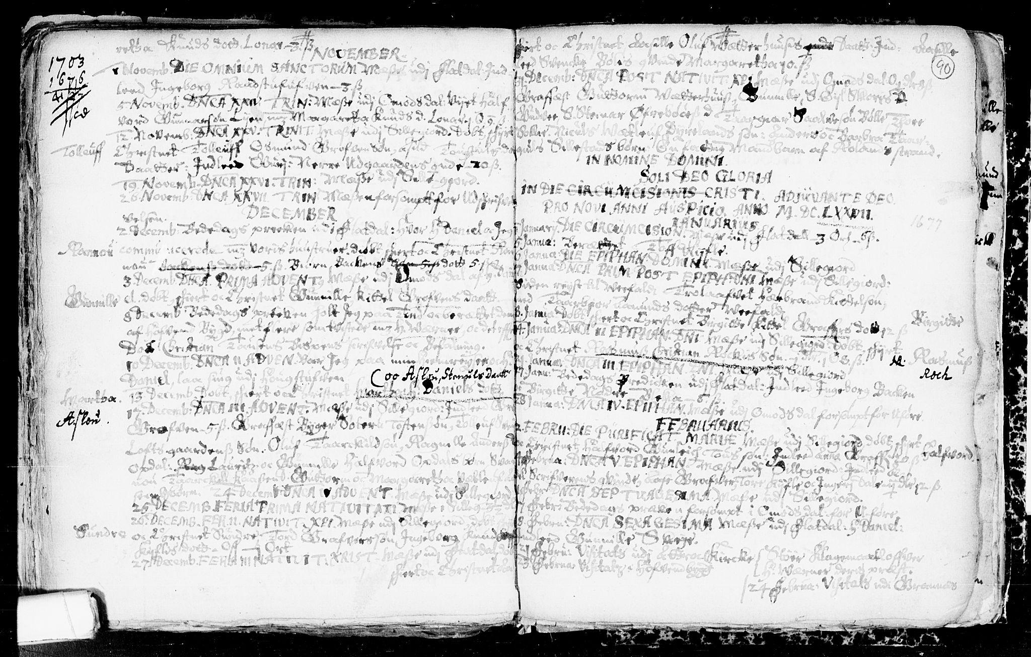 SAKO, Seljord kirkebøker, F/Fa/L0001: Ministerialbok nr. I 1, 1654-1686, s. 90