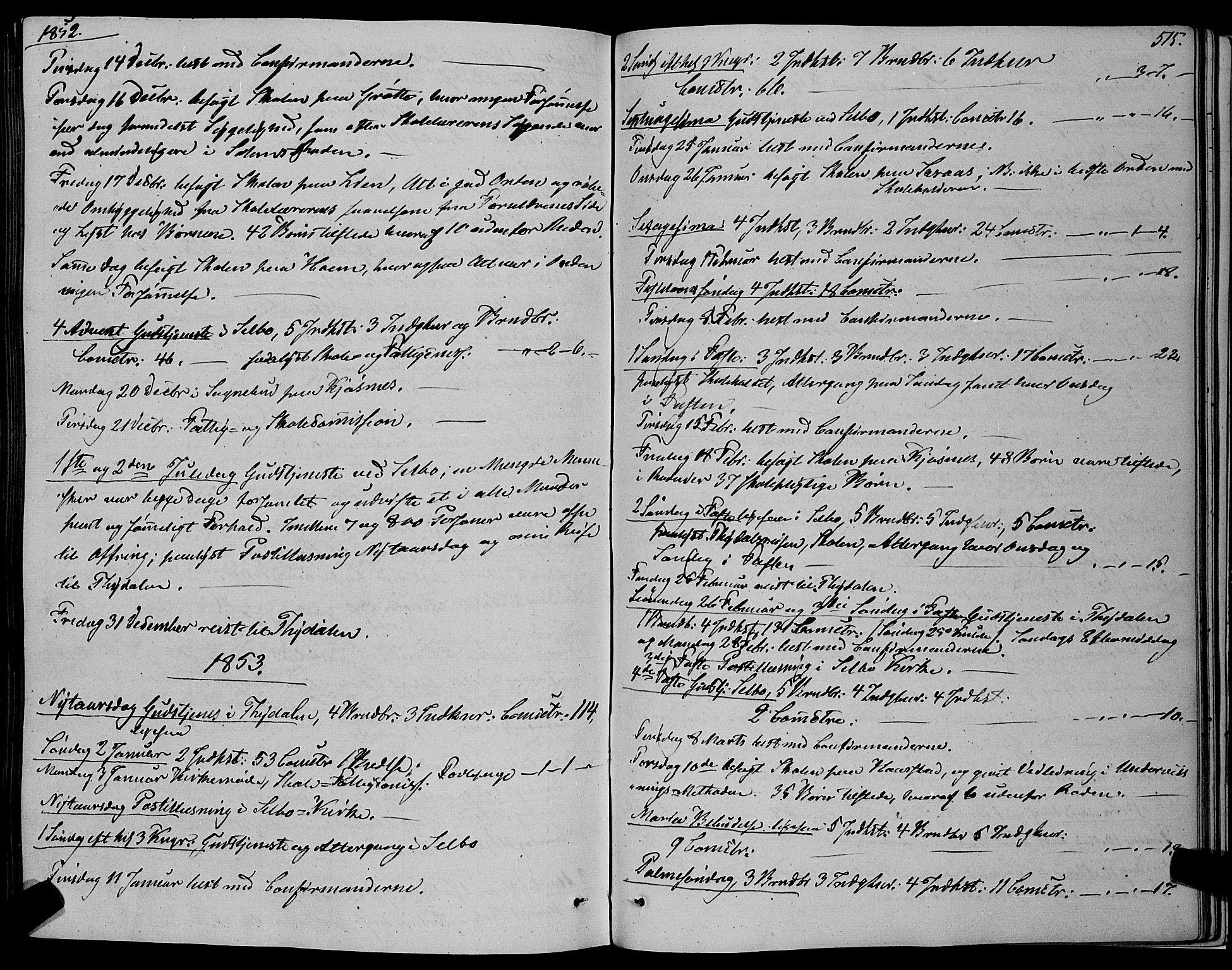 SAT, Ministerialprotokoller, klokkerbøker og fødselsregistre - Sør-Trøndelag, 695/L1145: Ministerialbok nr. 695A06 /1, 1843-1859, s. 515