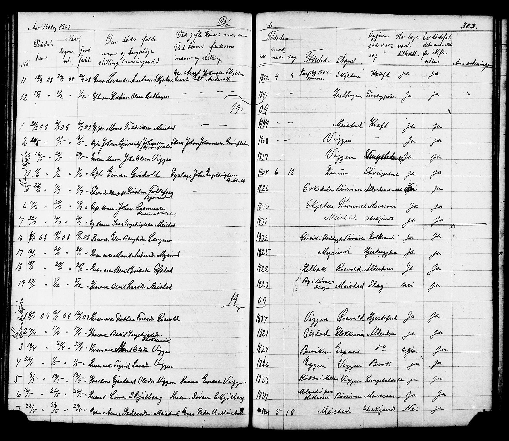 SAT, Ministerialprotokoller, klokkerbøker og fødselsregistre - Sør-Trøndelag, 665/L0777: Klokkerbok nr. 665C02, 1867-1915, s. 303