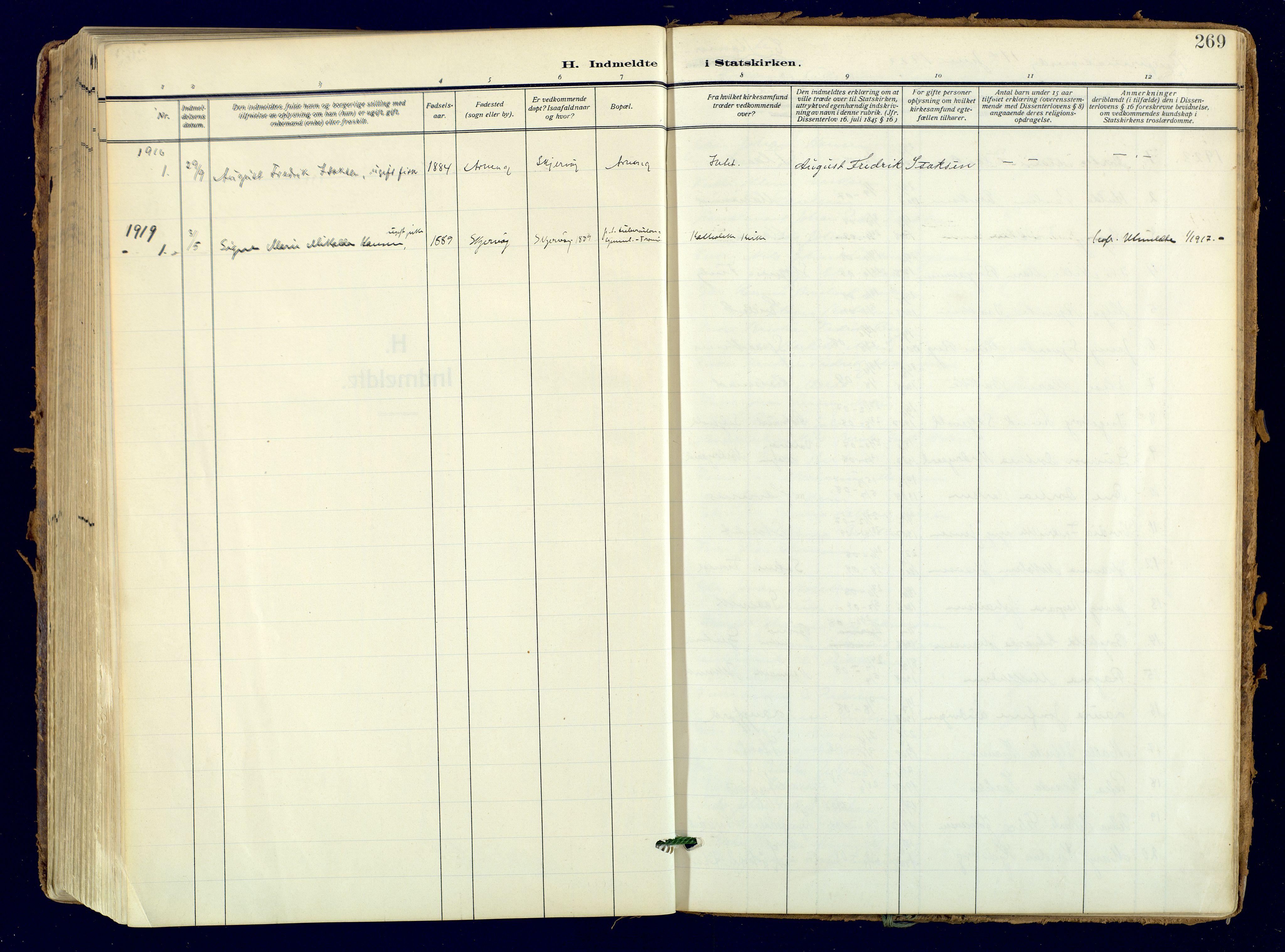 SATØ, Skjervøy sokneprestkontor, H/Ha/Haa: Ministerialbok nr. 18, 1910-1926, s. 269