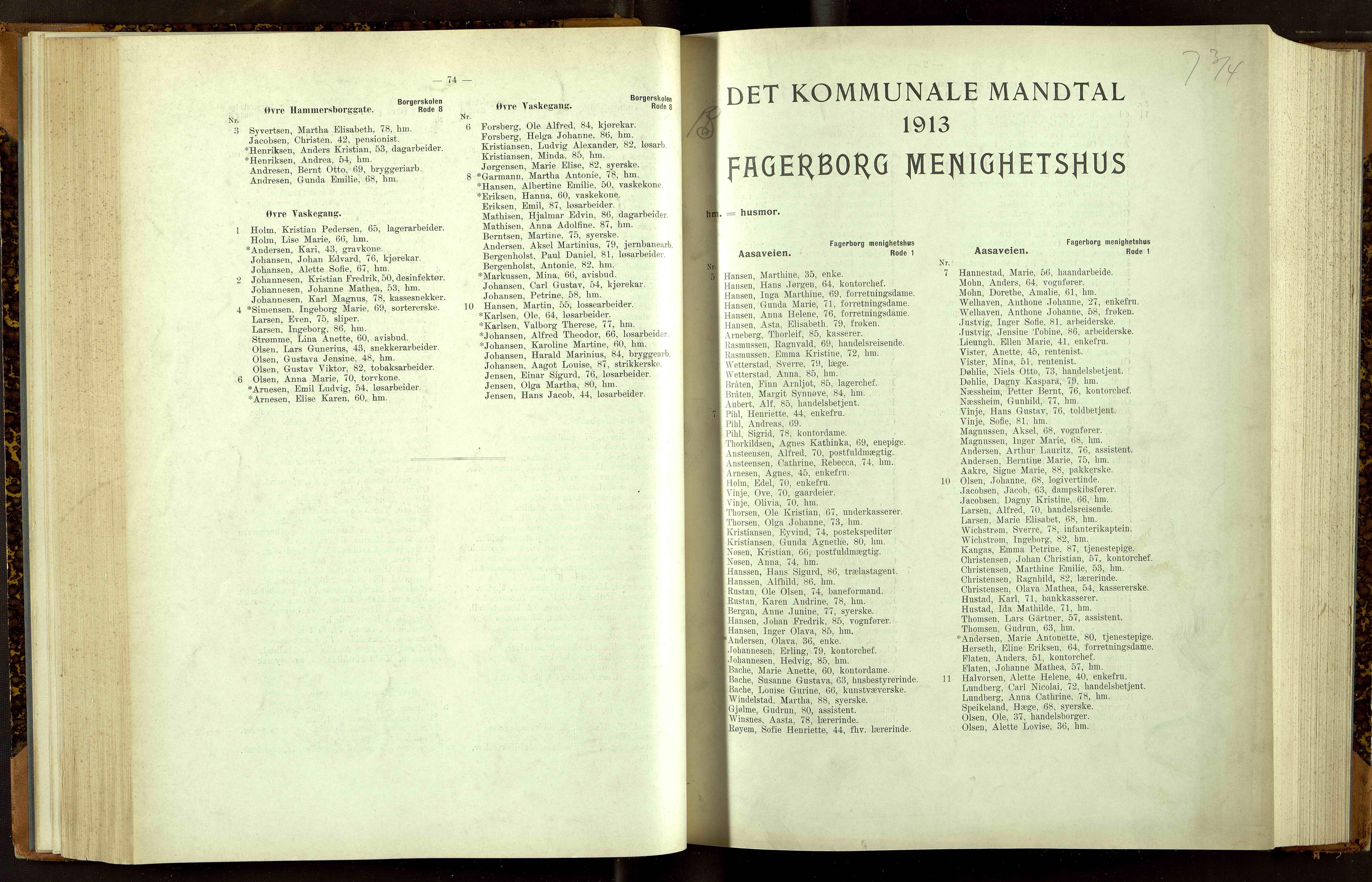 OBA, Folkeregisteret ( Valgstyret ), 1913, s. 1074-2001