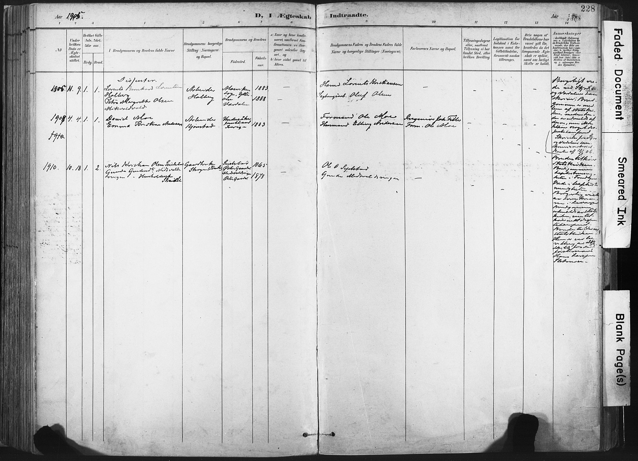 SAT, Ministerialprotokoller, klokkerbøker og fødselsregistre - Nord-Trøndelag, 717/L0162: Ministerialbok nr. 717A12, 1898-1923, s. 228