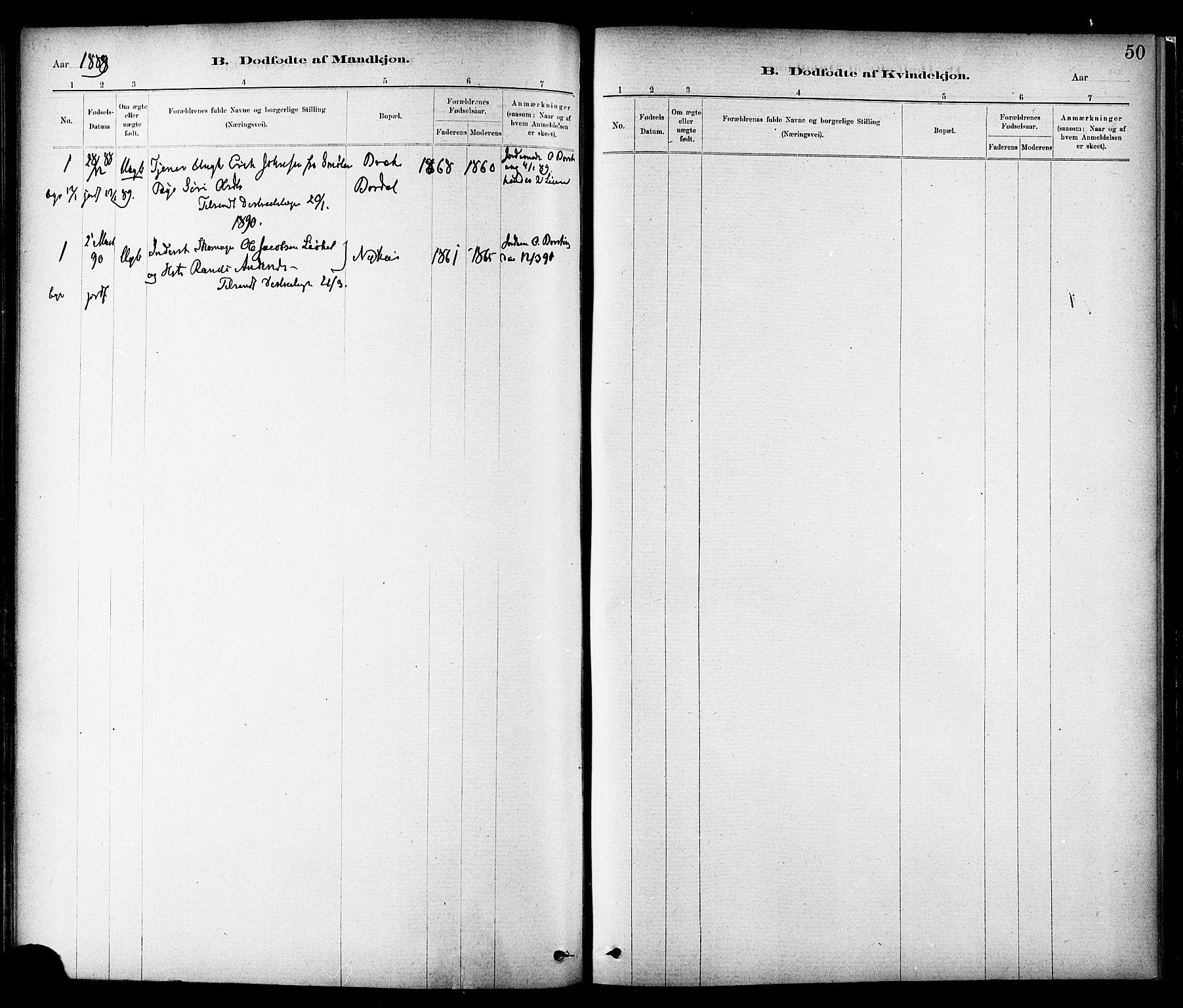 SAT, Ministerialprotokoller, klokkerbøker og fødselsregistre - Sør-Trøndelag, 689/L1040: Ministerialbok nr. 689A05, 1878-1890, s. 50