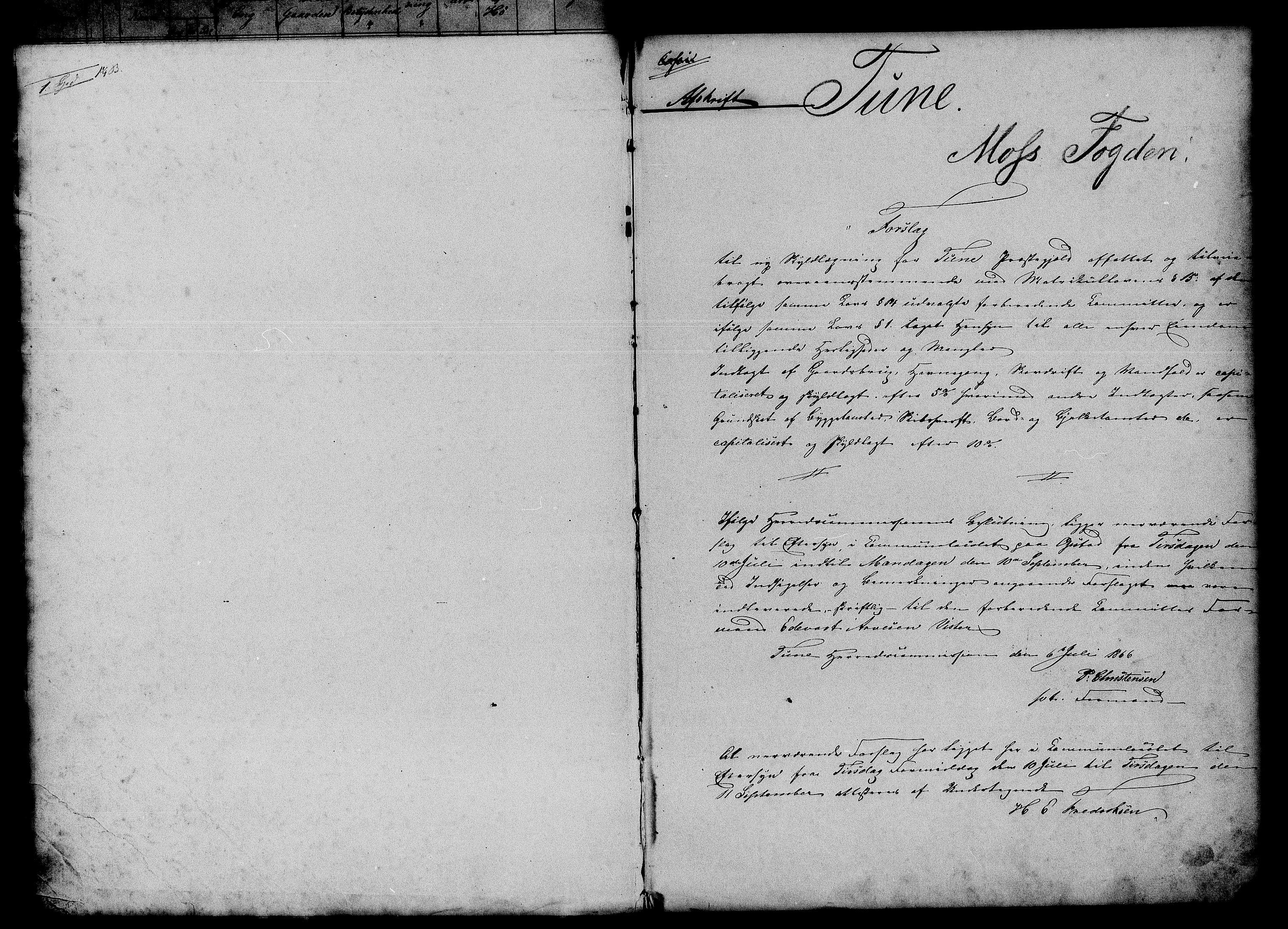 RA, Matrikkelrevisjonen av 1863, F/Fe/L0015: Tune, 1863