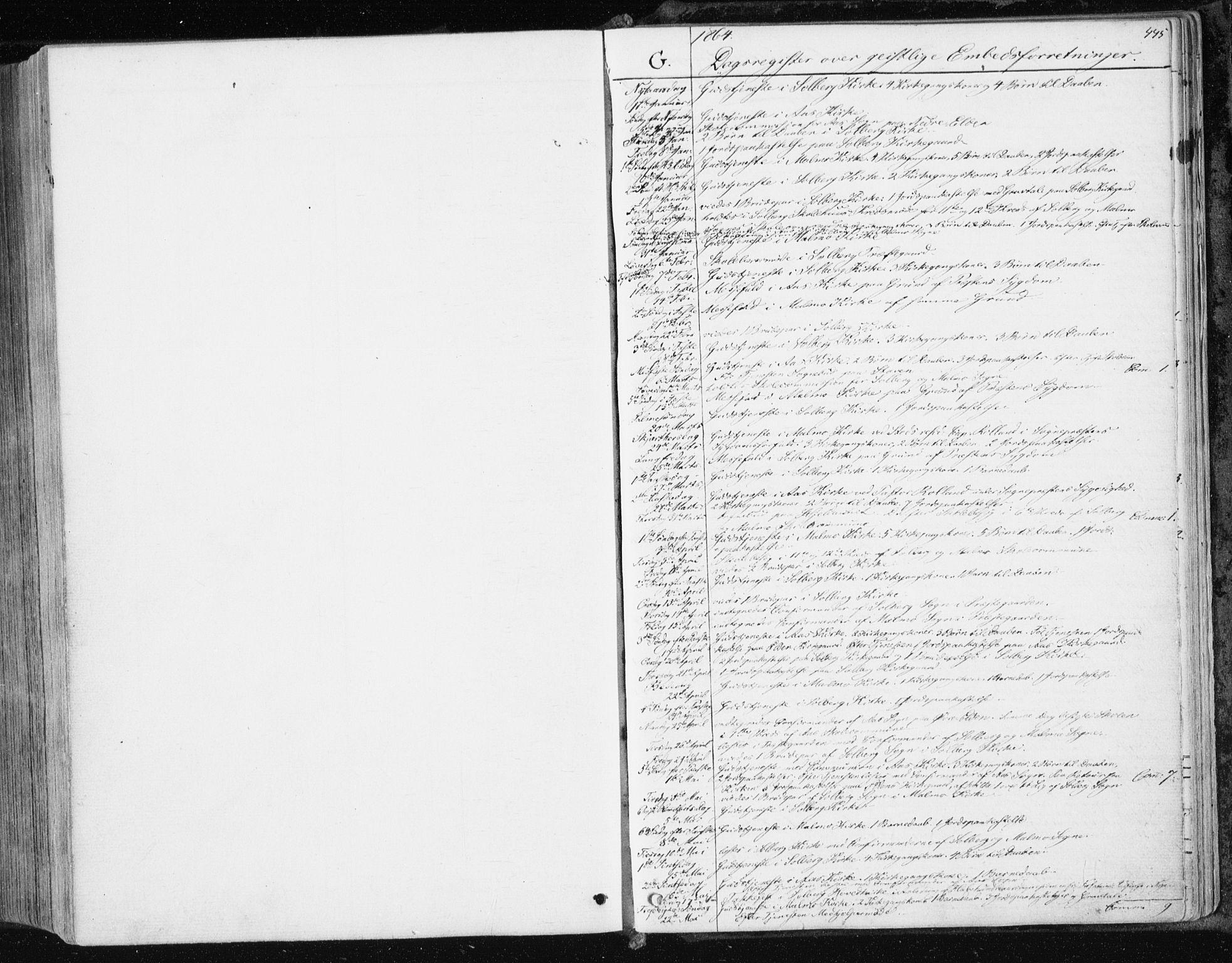 SAT, Ministerialprotokoller, klokkerbøker og fødselsregistre - Nord-Trøndelag, 741/L0394: Ministerialbok nr. 741A08, 1864-1877, s. 445