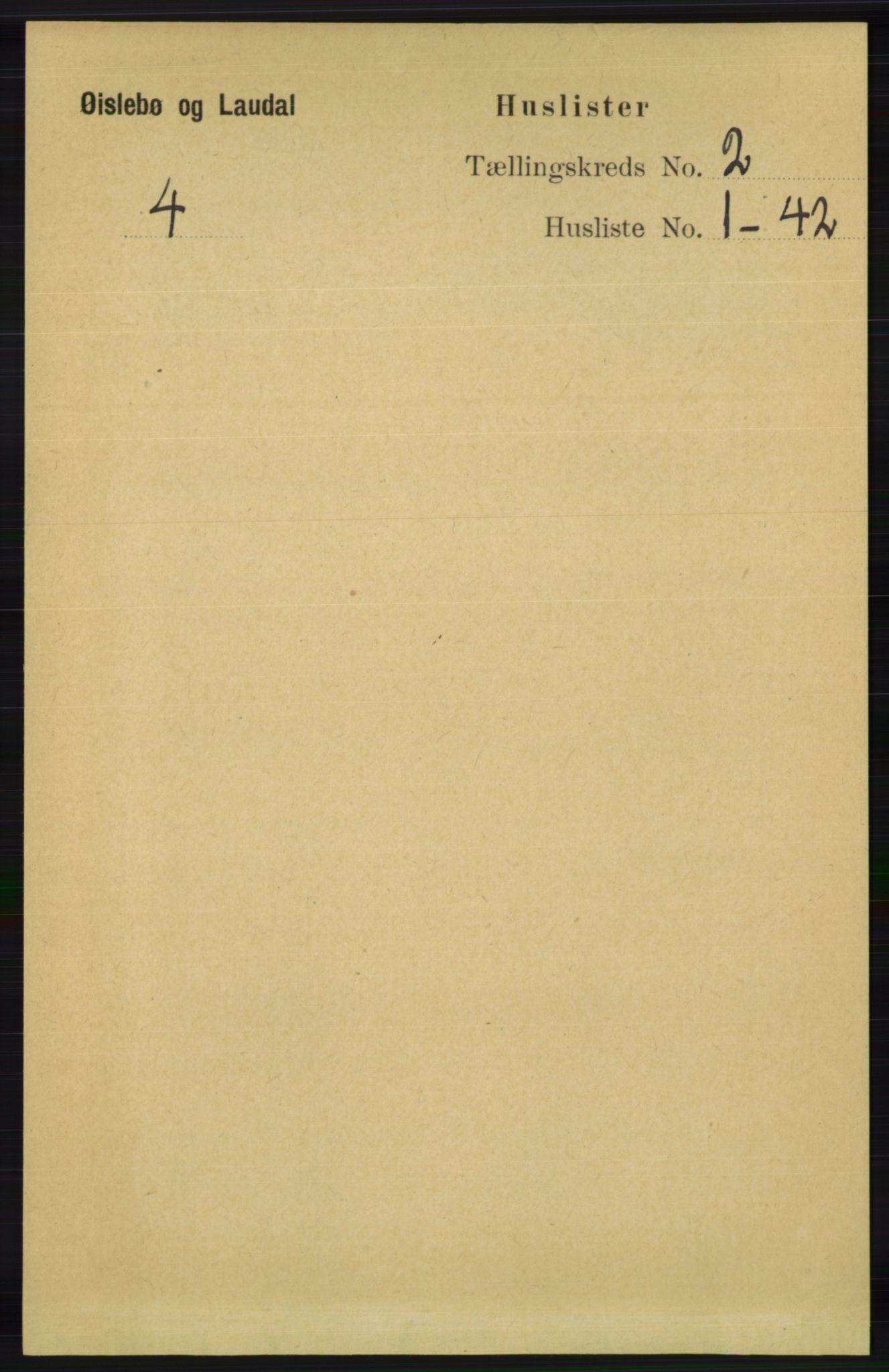 RA, Folketelling 1891 for 1021 Øyslebø og Laudal herred, 1891, s. 430