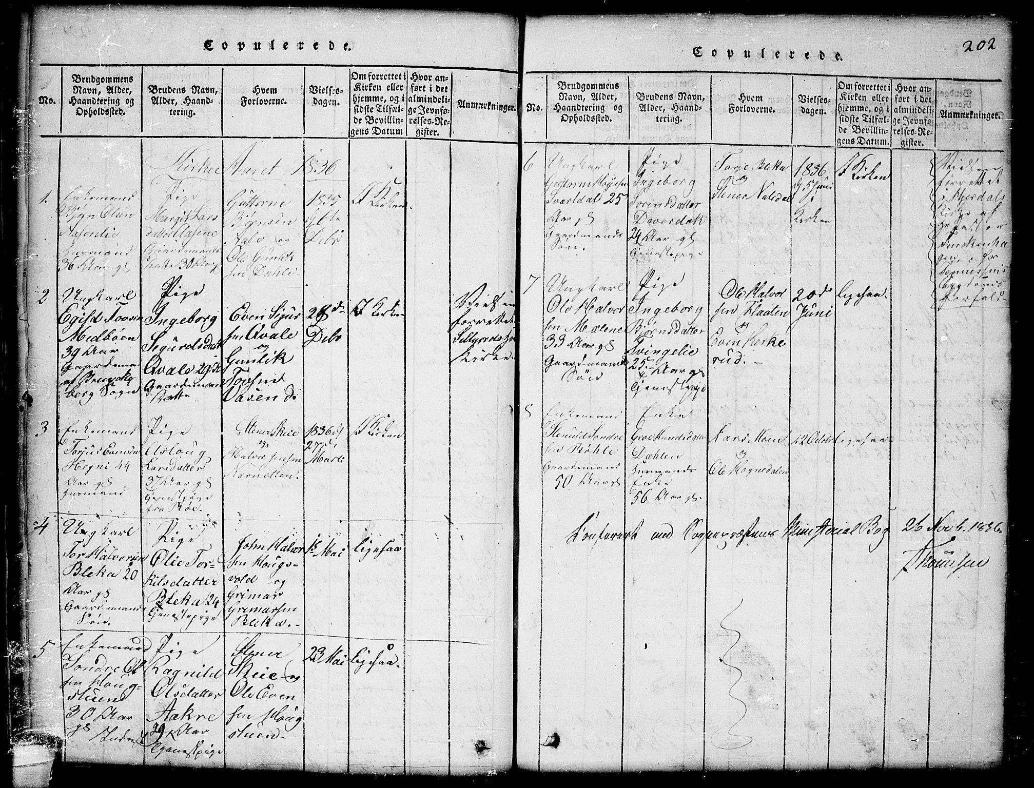SAKO, Seljord kirkebøker, G/Gb/L0002: Klokkerbok nr. II 2, 1815-1854, s. 202