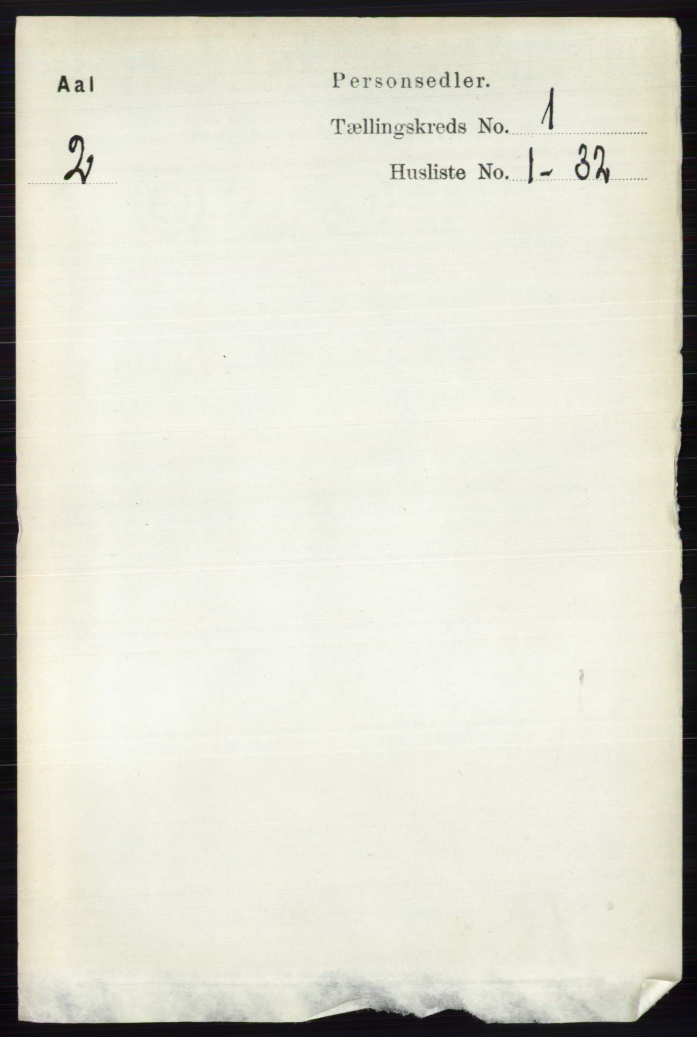 RA, Folketelling 1891 for 0619 Ål herred, 1891, s. 98