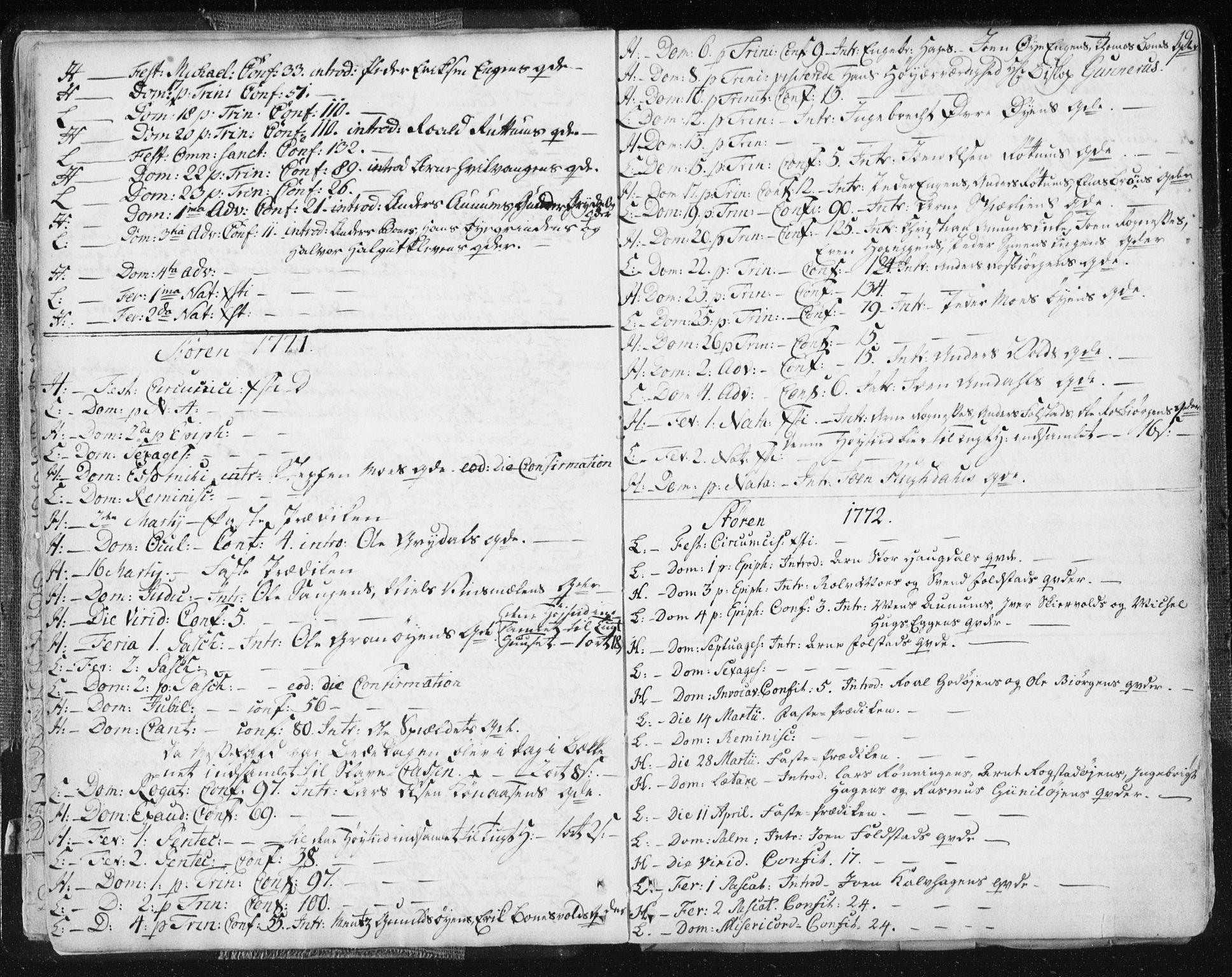 SAT, Ministerialprotokoller, klokkerbøker og fødselsregistre - Sør-Trøndelag, 687/L0991: Ministerialbok nr. 687A02, 1747-1790, s. 19