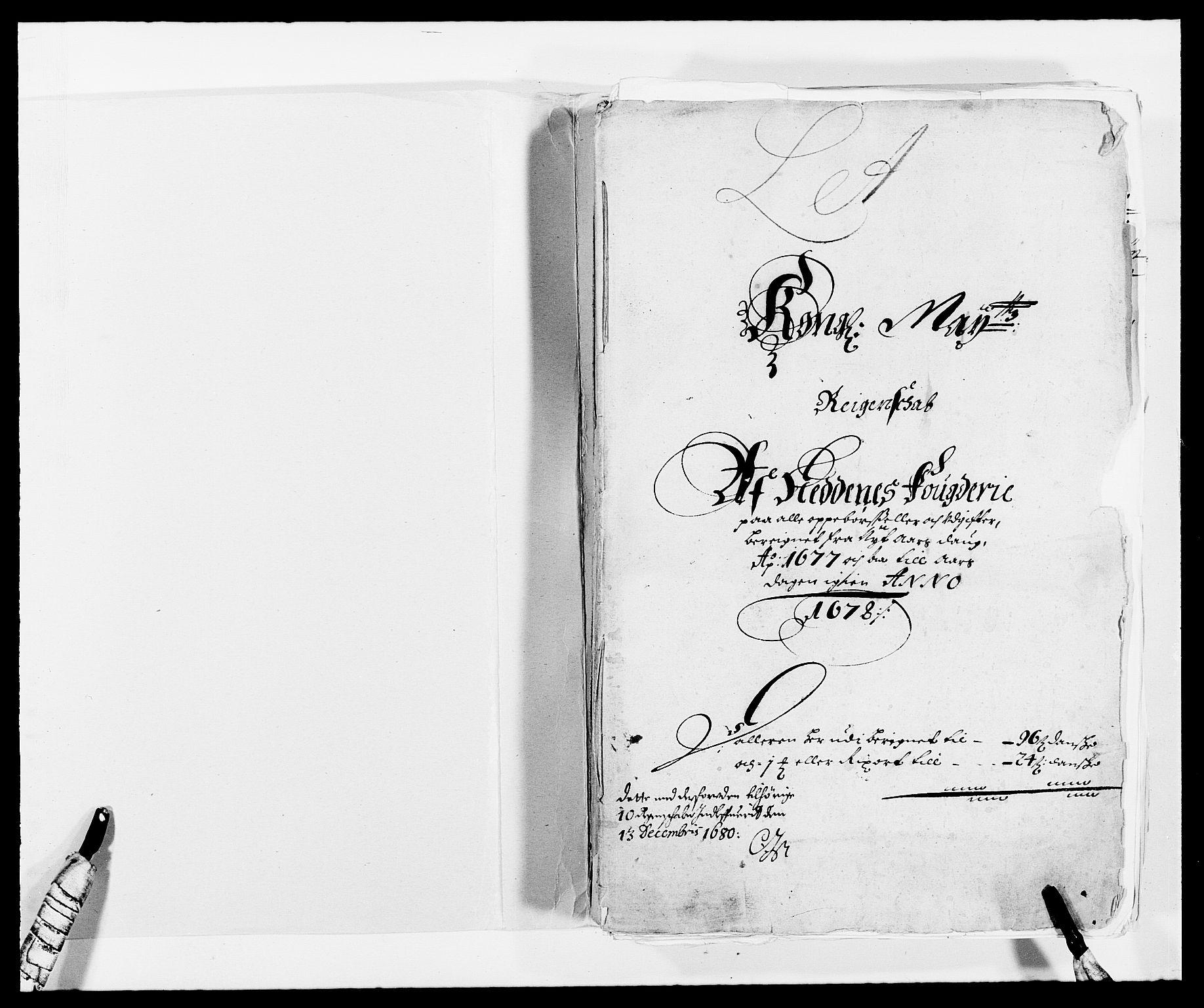 RA, Rentekammeret inntil 1814, Reviderte regnskaper, Fogderegnskap, R39/L2302: Fogderegnskap Nedenes, 1677-1678, s. 2