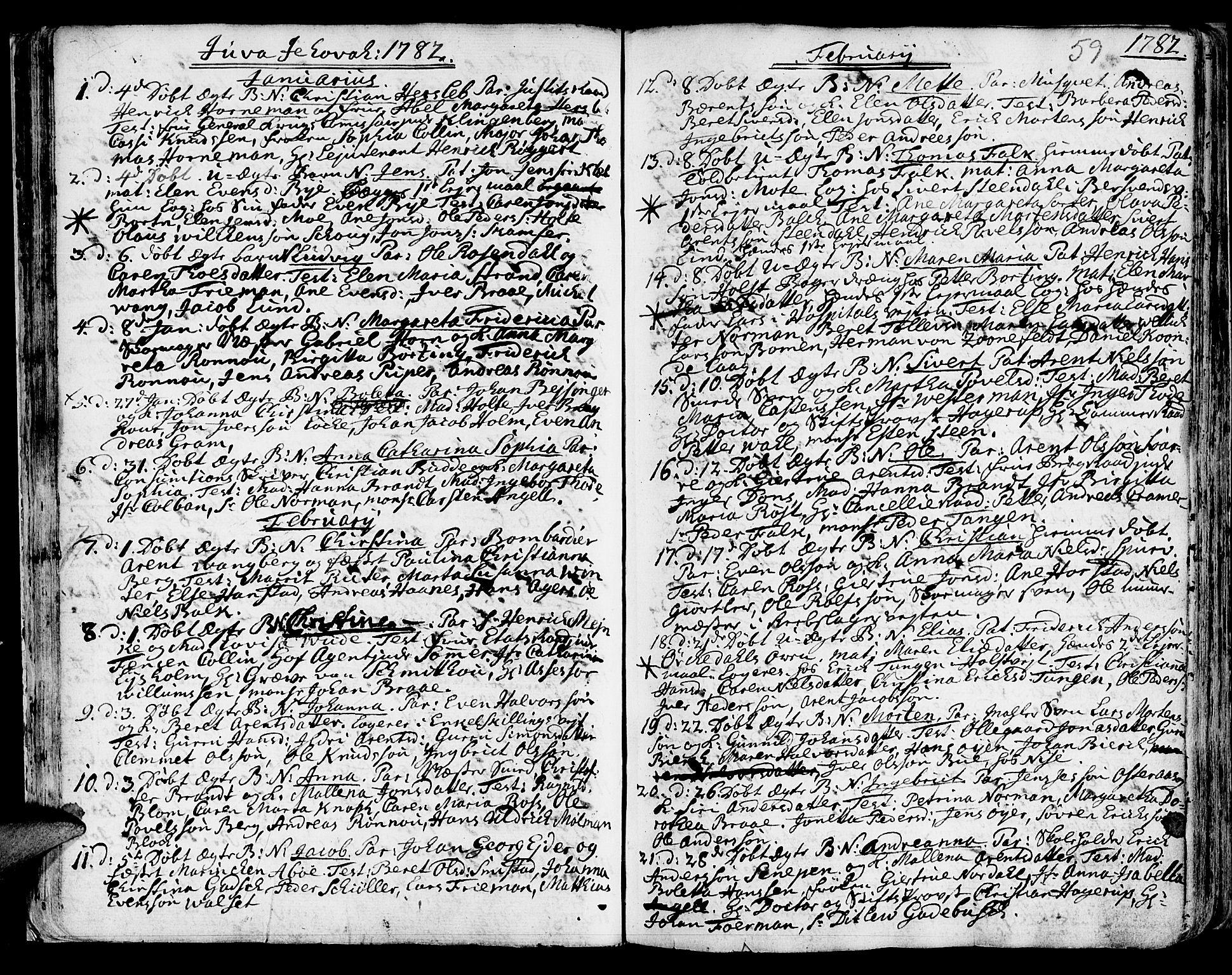 SAT, Ministerialprotokoller, klokkerbøker og fødselsregistre - Sør-Trøndelag, 601/L0039: Ministerialbok nr. 601A07, 1770-1819, s. 59