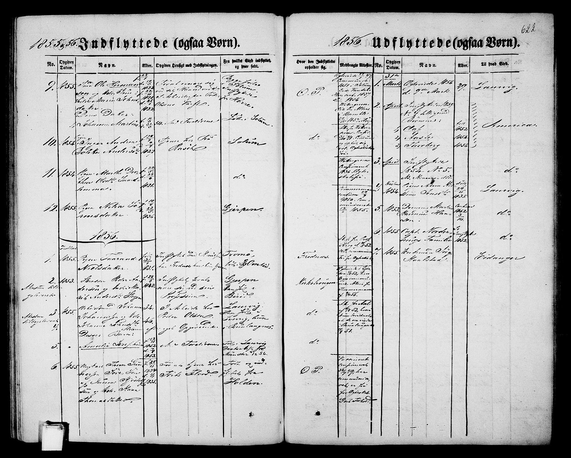 SAKO, Porsgrunn kirkebøker , G/Gb/L0004: Klokkerbok nr. II 4, 1853-1882, s. 622