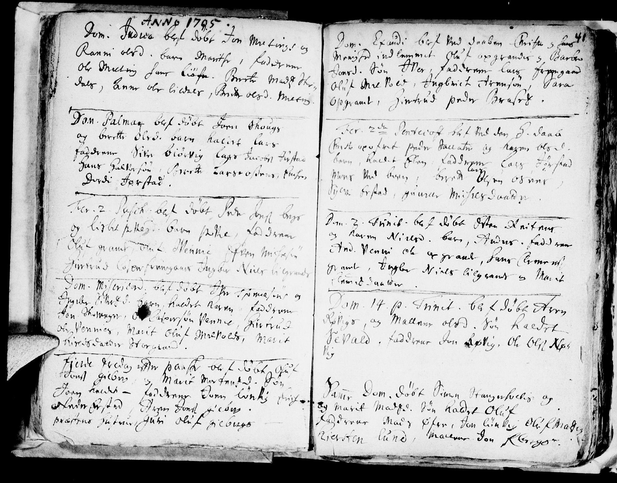 SAT, Ministerialprotokoller, klokkerbøker og fødselsregistre - Nord-Trøndelag, 722/L0214: Ministerialbok nr. 722A01, 1692-1718, s. 41