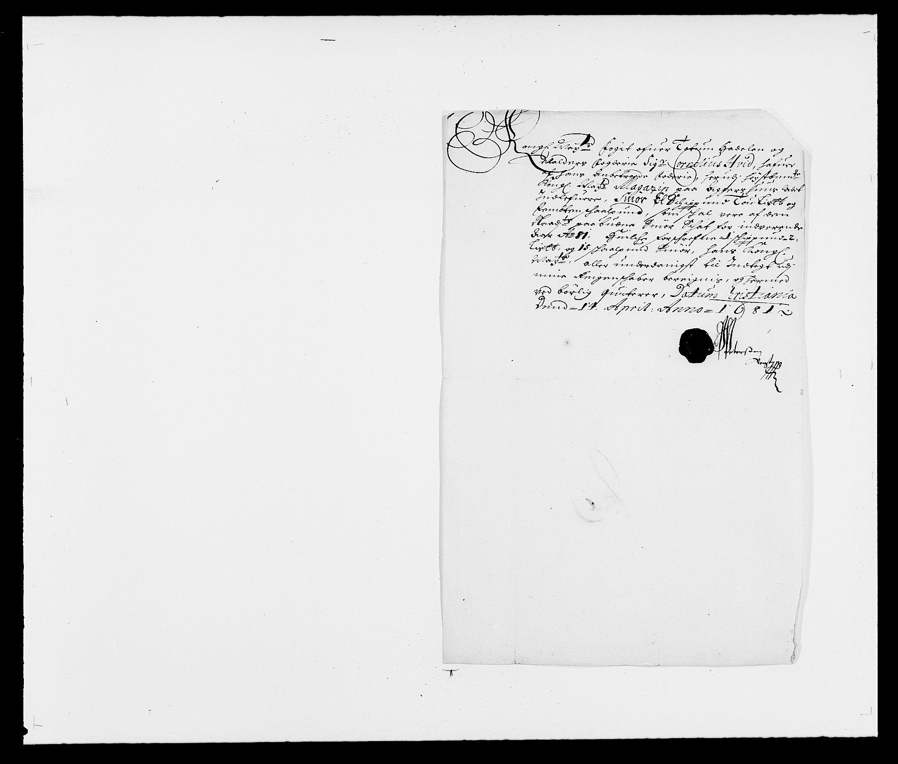 RA, Rentekammeret inntil 1814, Reviderte regnskaper, Fogderegnskap, R18/L1279: Fogderegnskap Hadeland, Toten og Valdres, 1681, s. 165