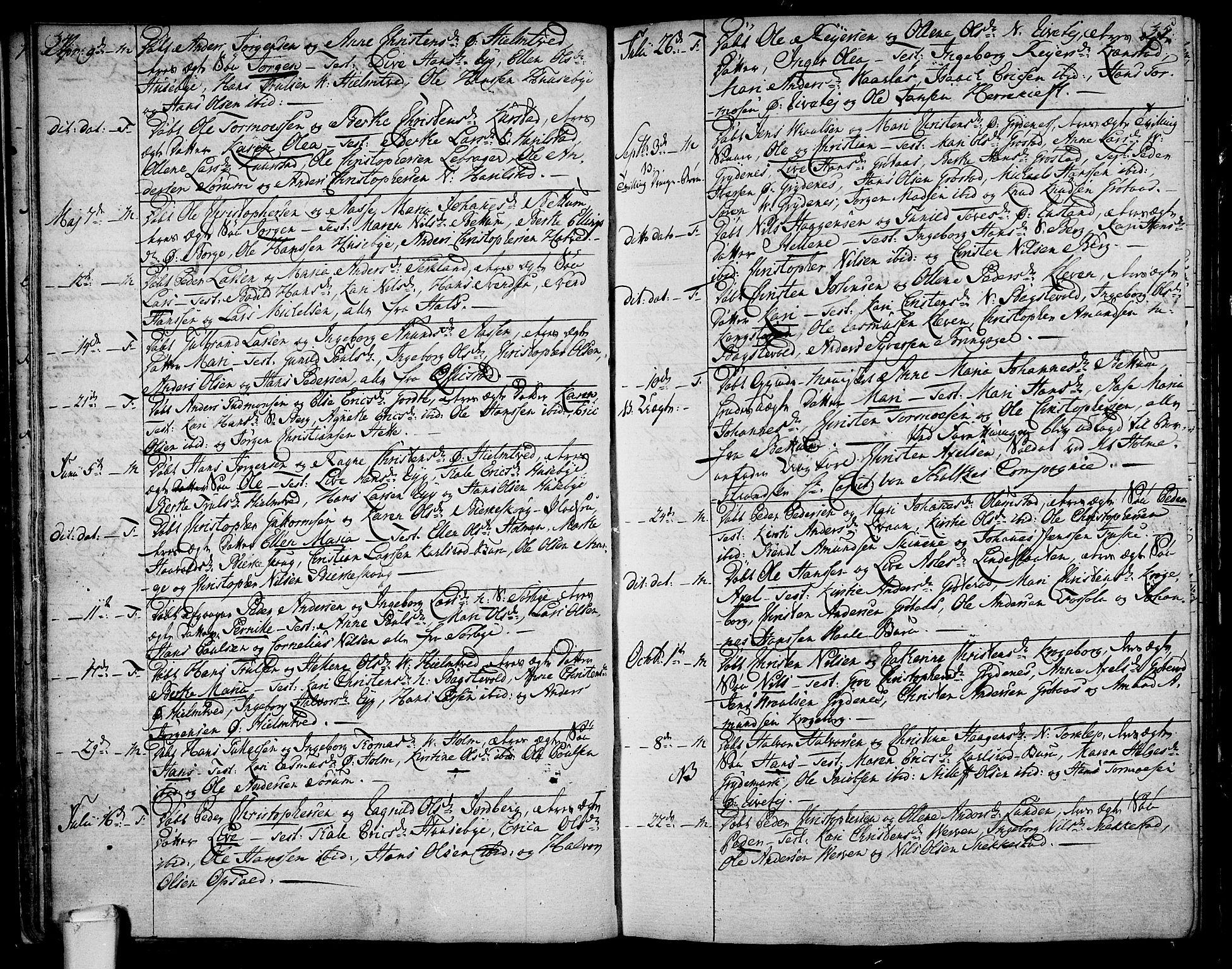 SAKO, Våle kirkebøker, F/Fa/L0005: Ministerialbok nr. I 5, 1773-1808, s. 34-35