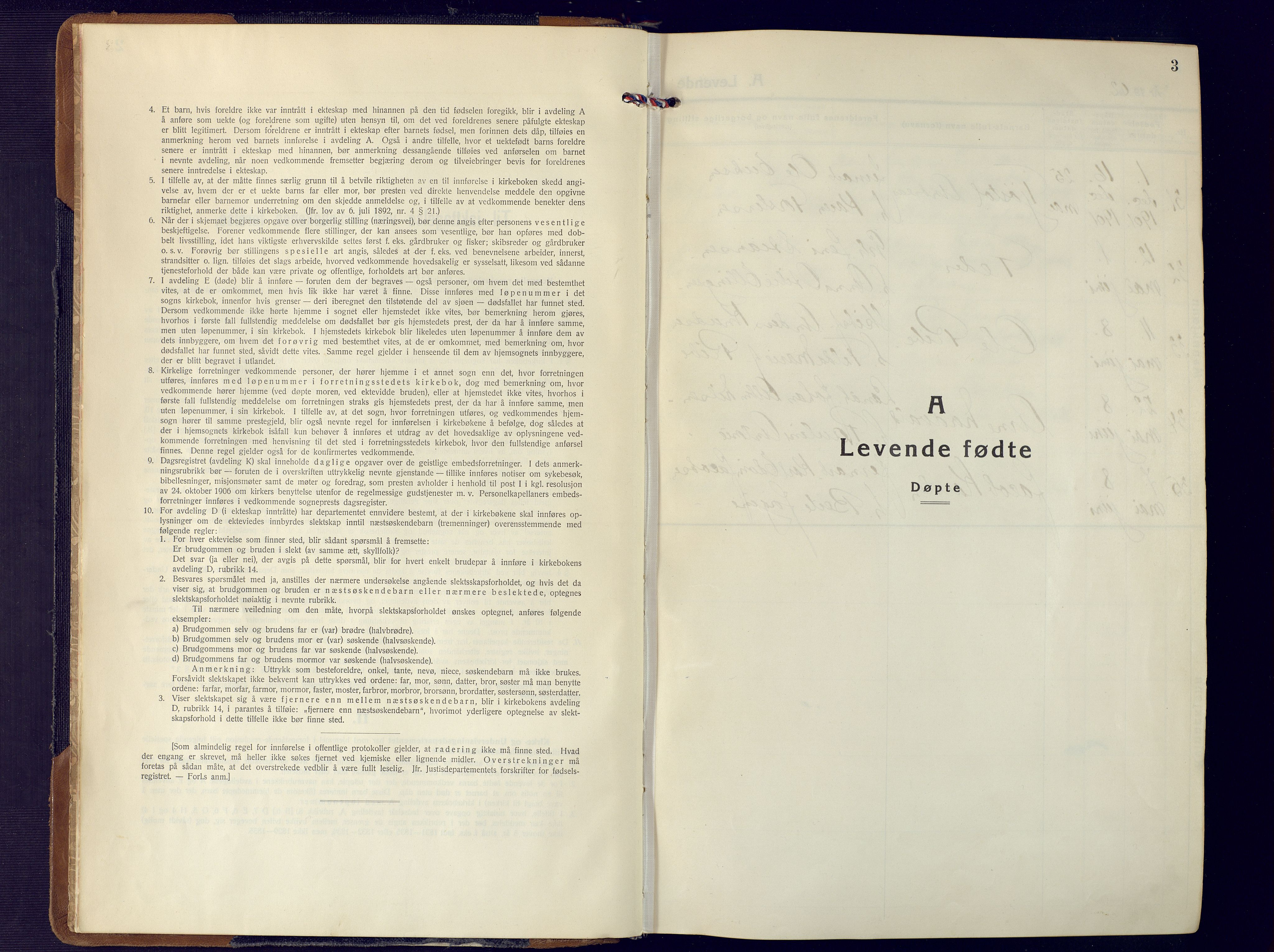 SAK, Fjære sokneprestkontor, F/Fa/L0004: Ministerialbok nr. A 4, 1902-1925, s. 3