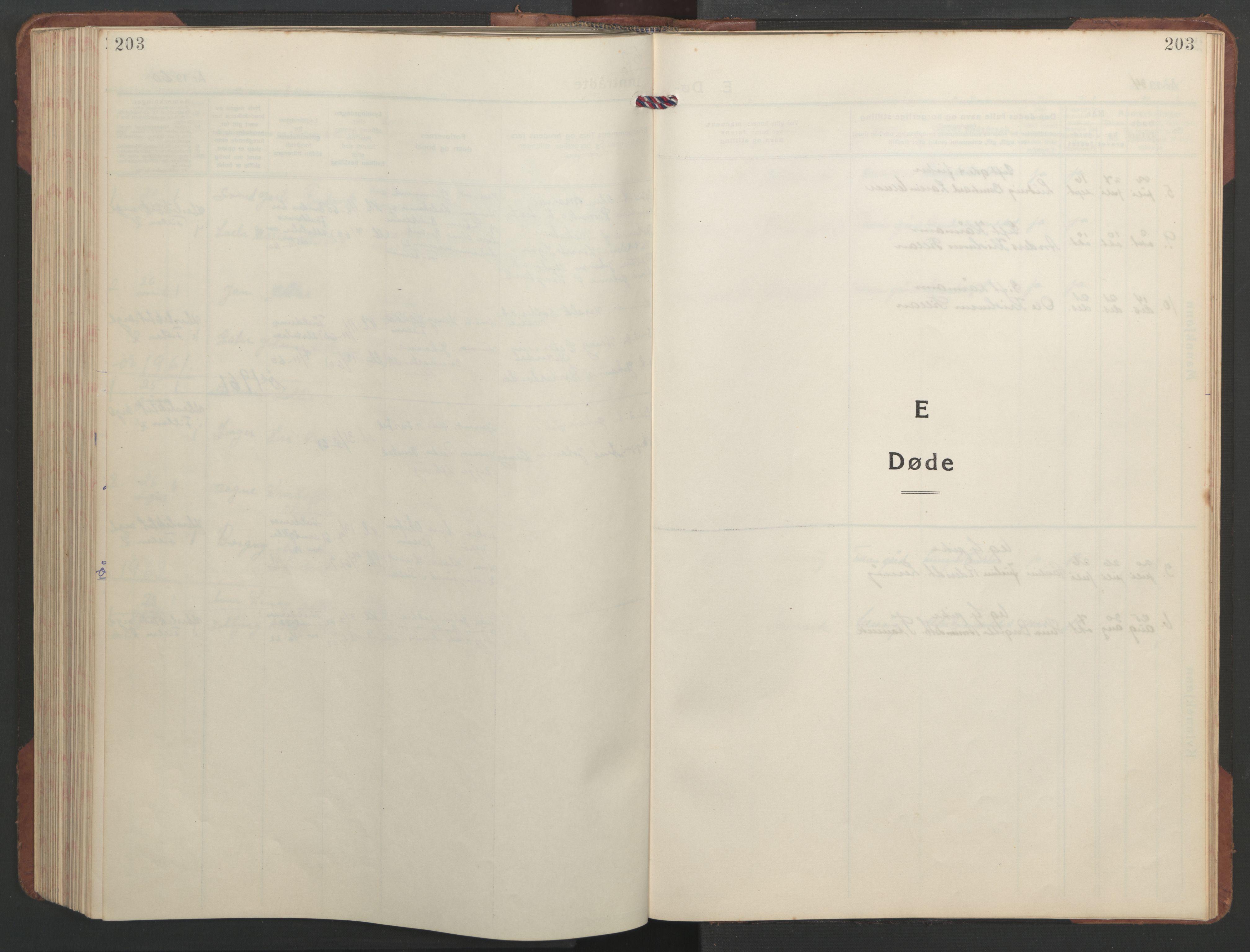 SAT, Ministerialprotokoller, klokkerbøker og fødselsregistre - Sør-Trøndelag, 637/L0564: Klokkerbok nr. 637C05, 1928-1968, s. 203