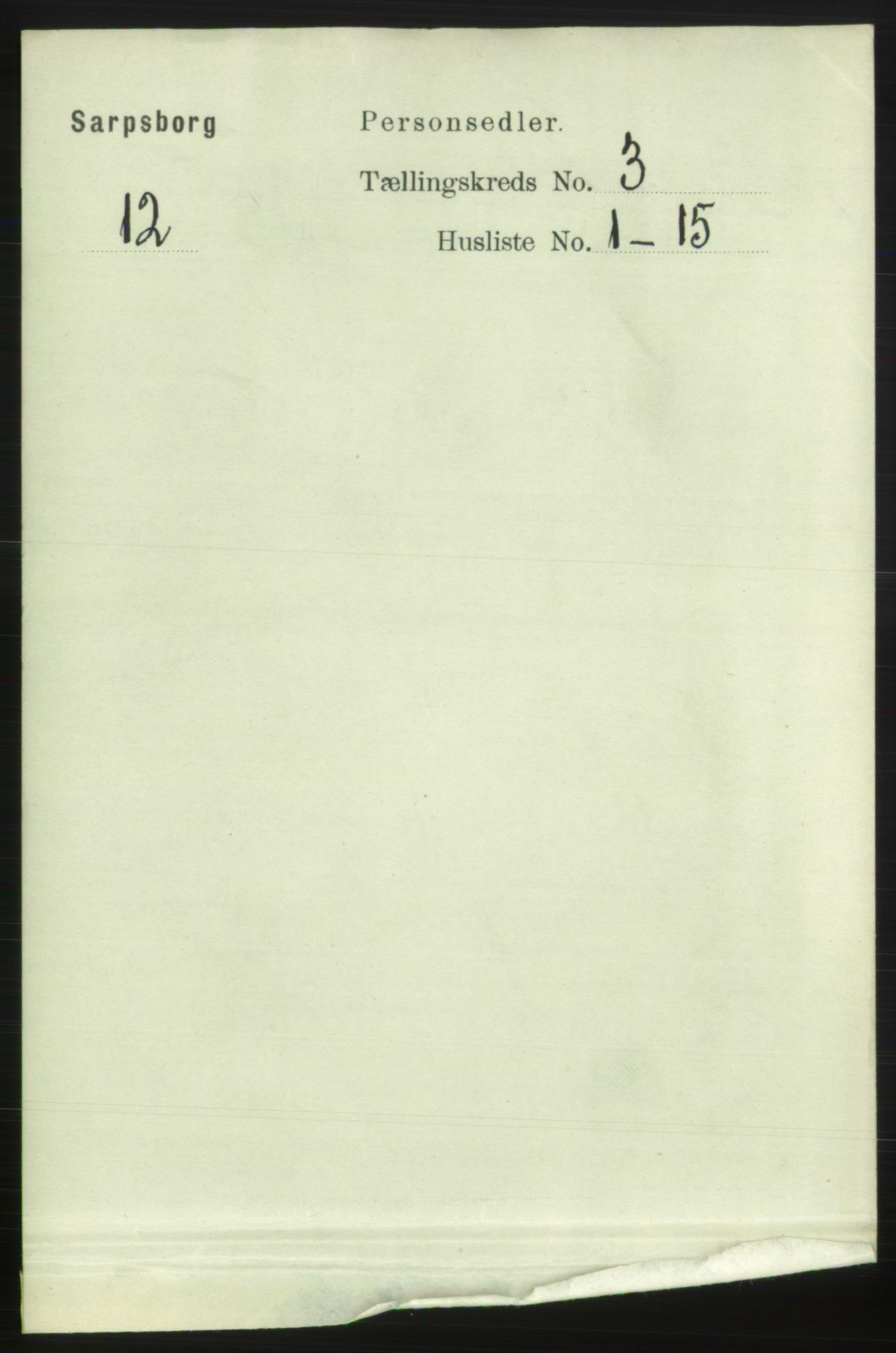 RA, Folketelling 1891 for 0102 Sarpsborg kjøpstad, 1891, s. 2432