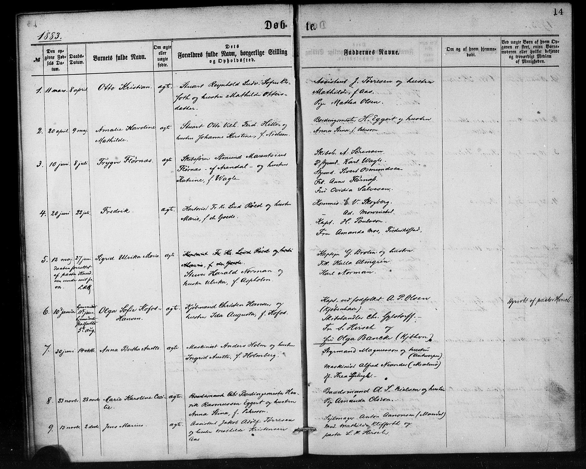 SAB, Den Norske Sjømannsmisjon i utlandet*, Ministerialbok nr. A 1, 1865-1887, s. 14