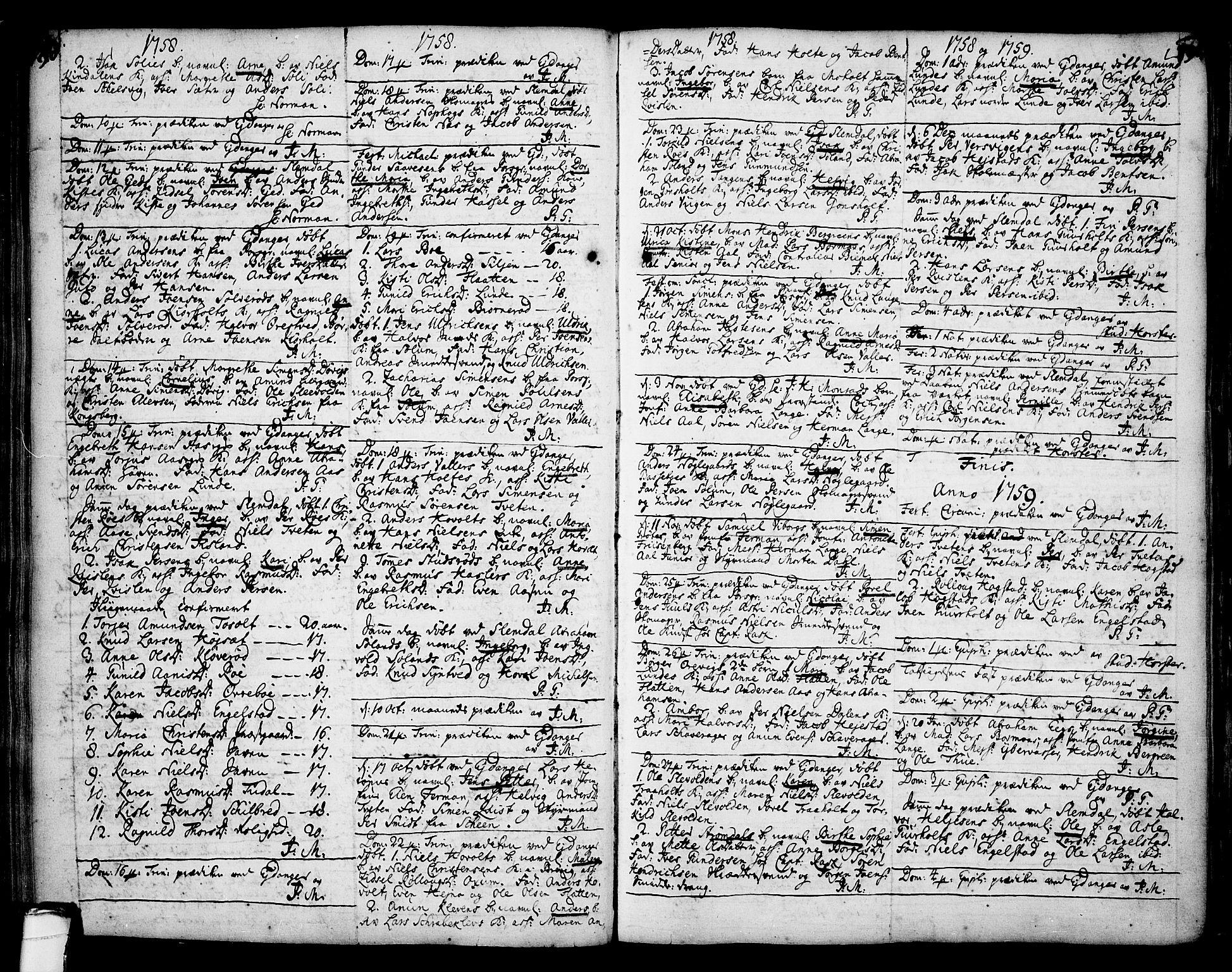 SAKO, Eidanger kirkebøker, F/Fa/L0004: Ministerialbok nr. 4, 1733-1759, s. 190-191