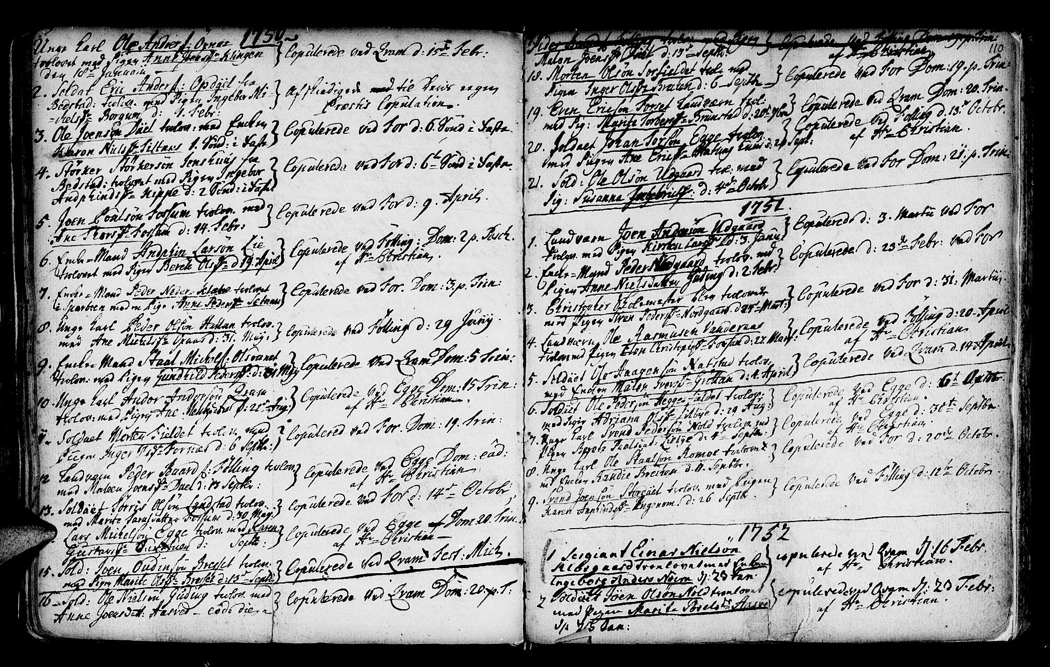 SAT, Ministerialprotokoller, klokkerbøker og fødselsregistre - Nord-Trøndelag, 746/L0439: Ministerialbok nr. 746A01, 1688-1759, s. 110