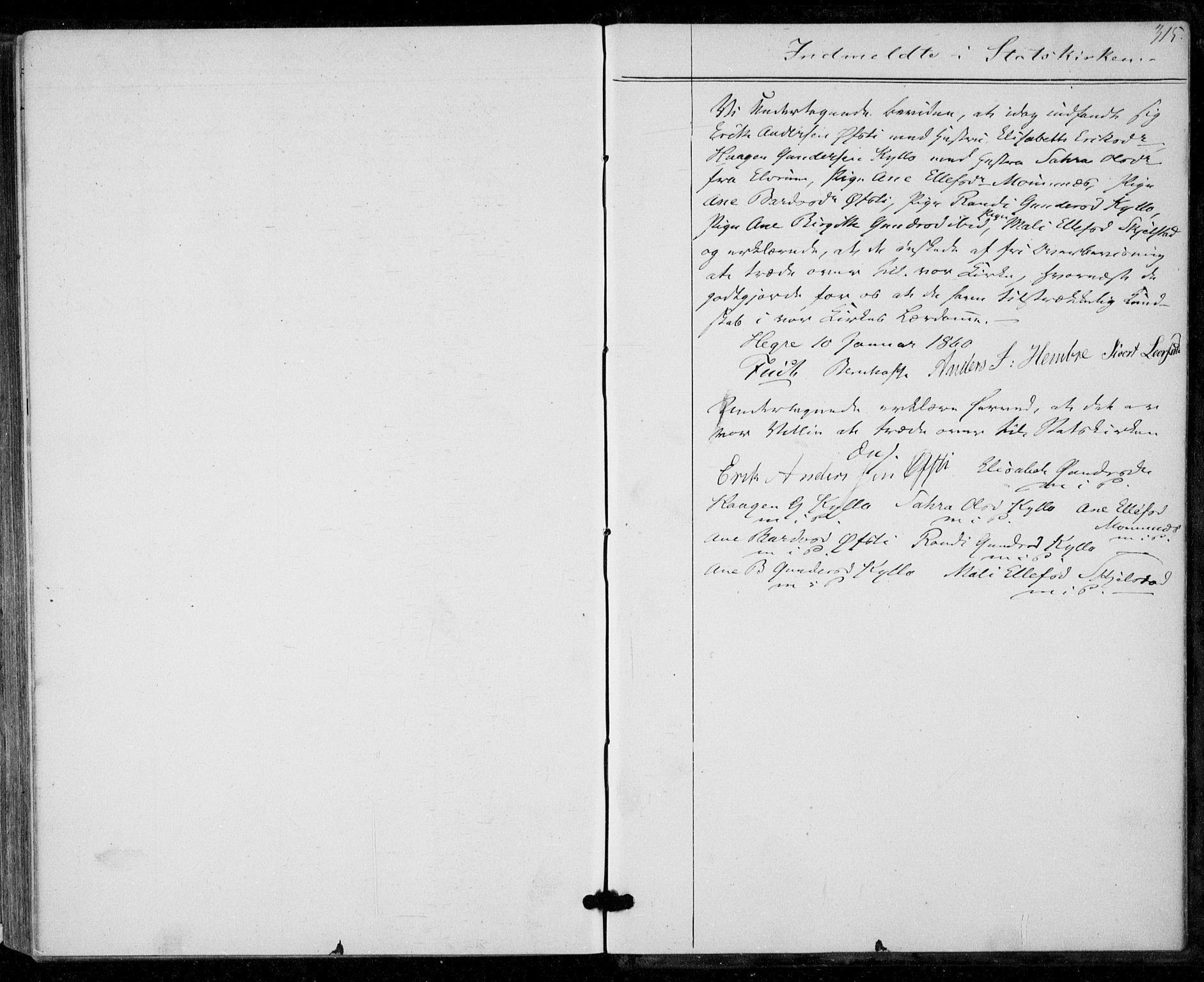 SAT, Ministerialprotokoller, klokkerbøker og fødselsregistre - Nord-Trøndelag, 703/L0028: Ministerialbok nr. 703A01, 1850-1862, s. 315
