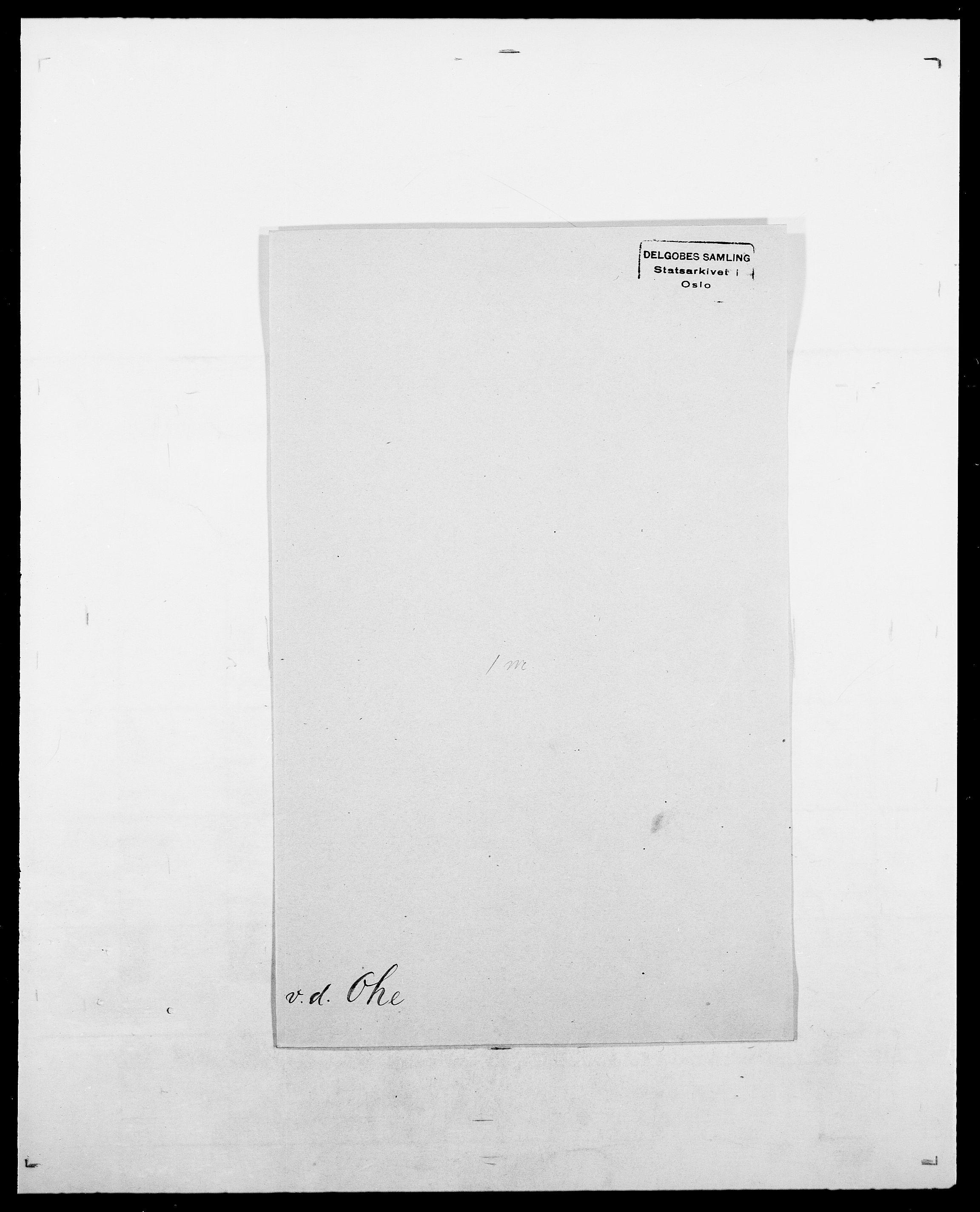 SAO, Delgobe, Charles Antoine - samling, D/Da/L0029: Obel - Oxholm, s. 58