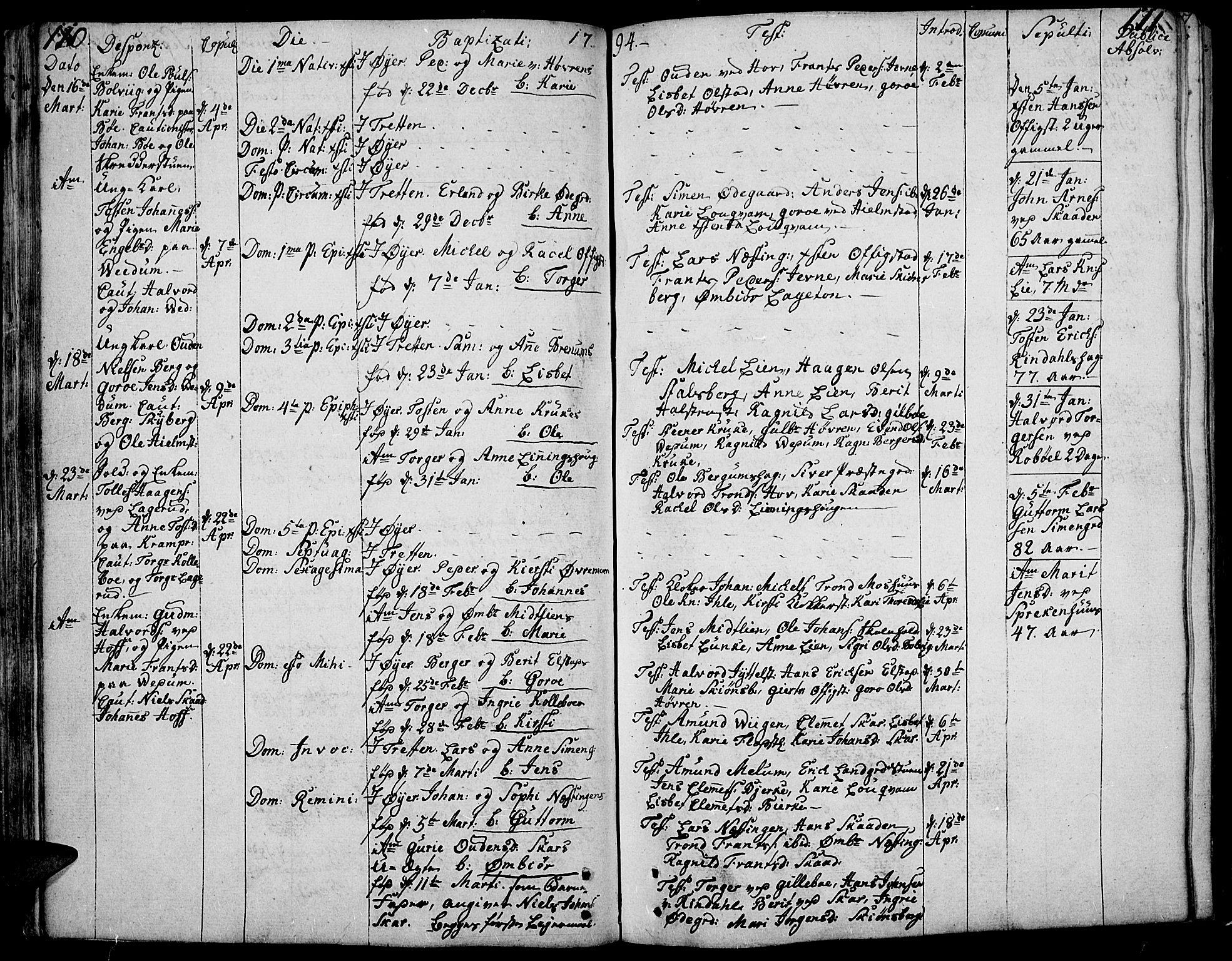 SAH, Øyer prestekontor, Ministerialbok nr. 3, 1784-1824, s. 110-111