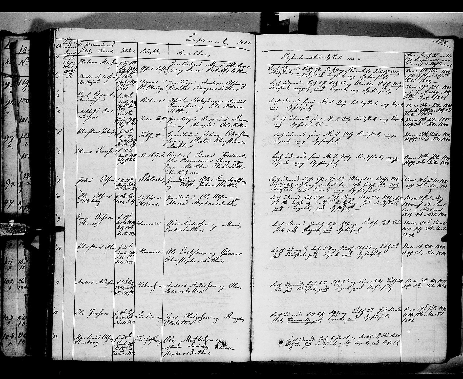 SAH, Romedal prestekontor, K/L0004: Ministerialbok nr. 4, 1847-1861, s. 158