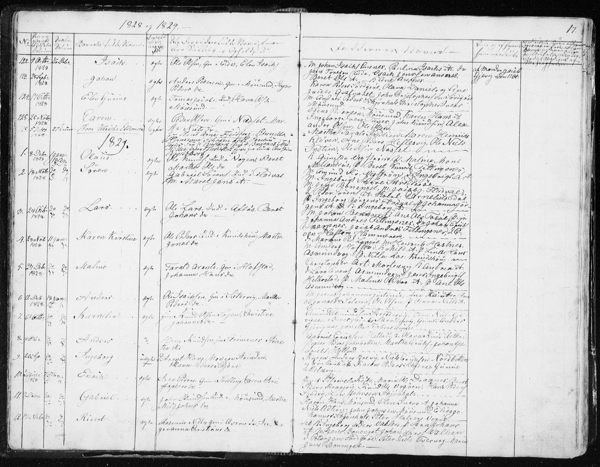 SAT, Ministerialprotokoller, klokkerbøker og fødselsregistre - Sør-Trøndelag, 634/L0528: Ministerialbok nr. 634A04, 1827-1842, s. 17