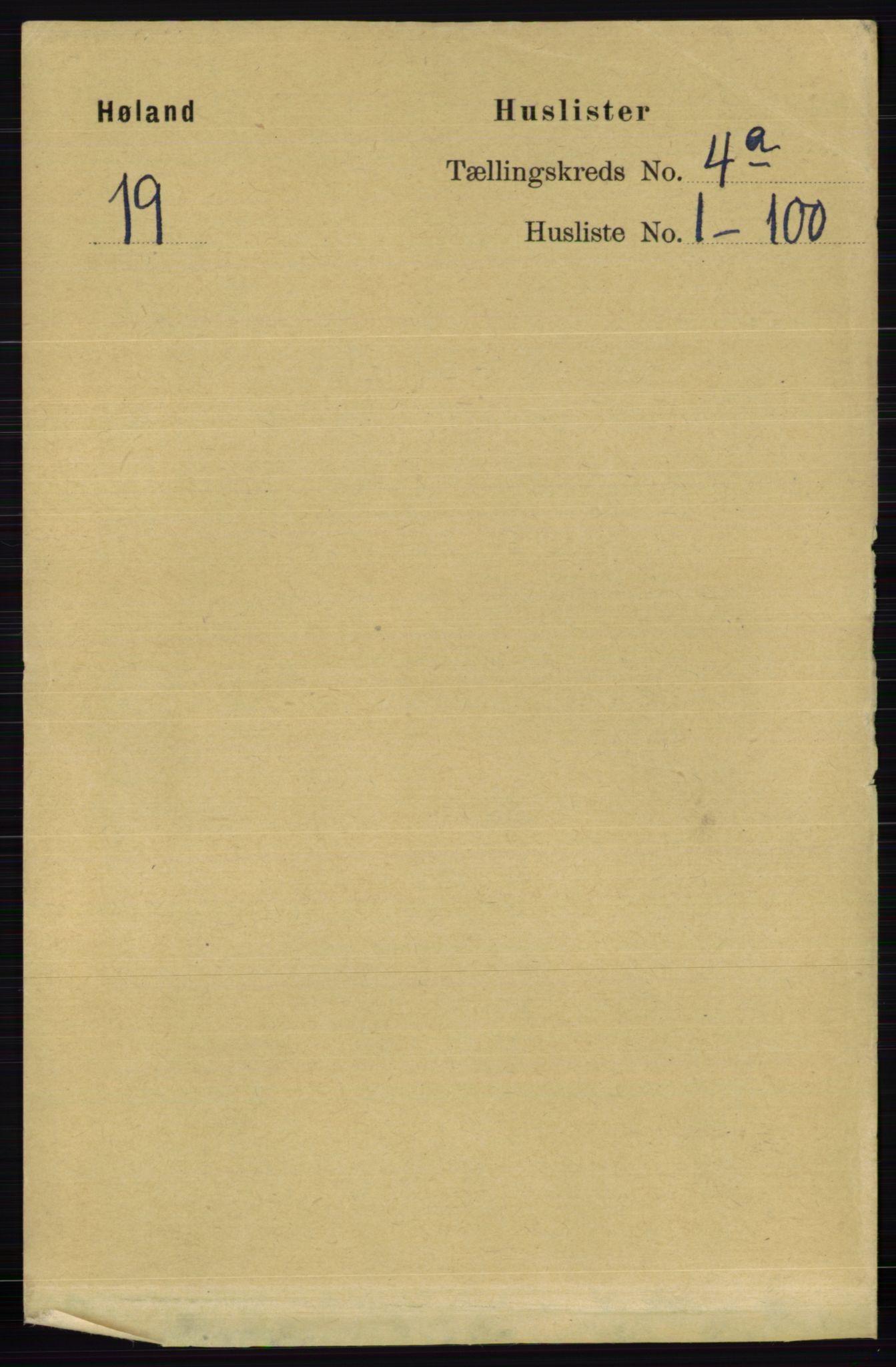 RA, Folketelling 1891 for 0221 Høland herred, 1891, s. 2453