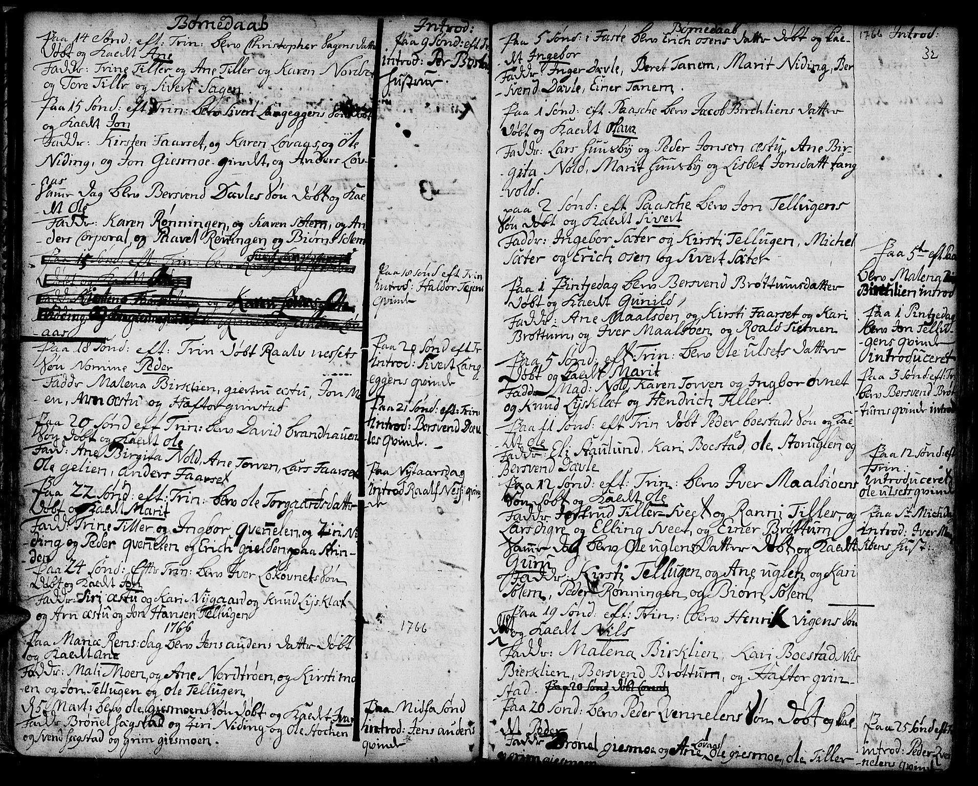 SAT, Ministerialprotokoller, klokkerbøker og fødselsregistre - Sør-Trøndelag, 618/L0437: Ministerialbok nr. 618A02, 1749-1782, s. 32