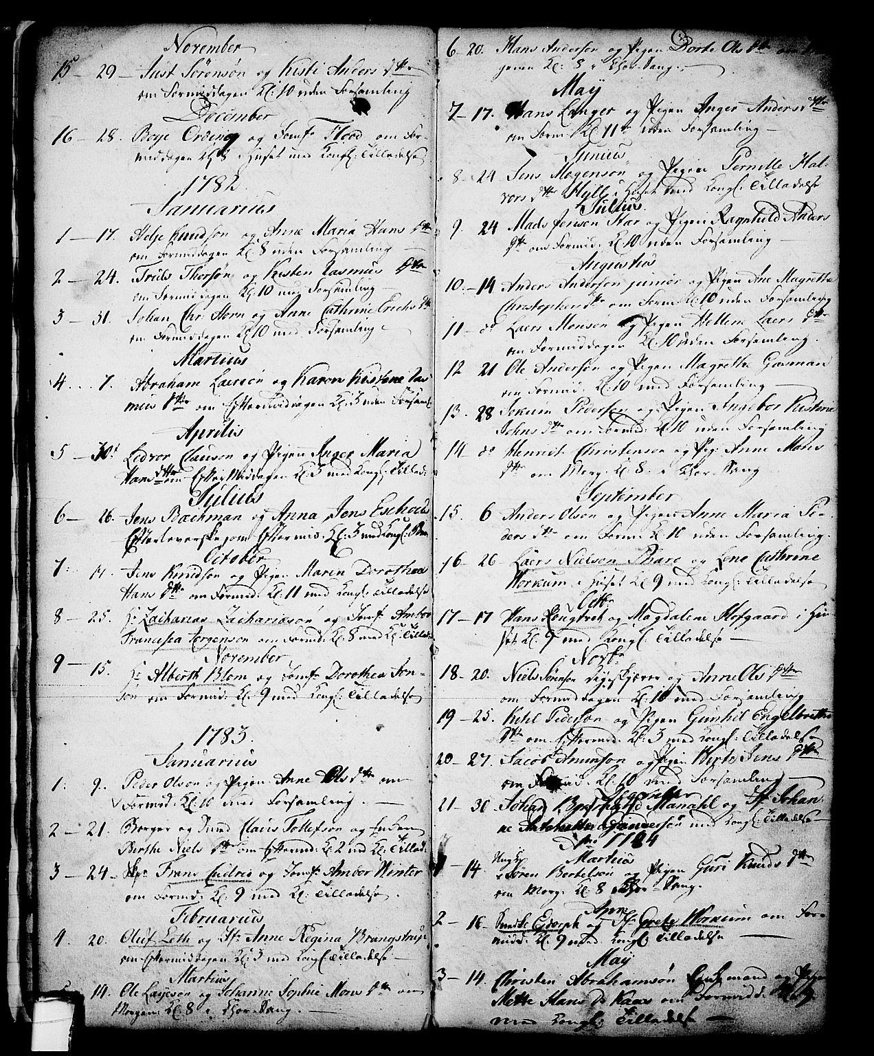 SAKO, Skien kirkebøker, G/Ga/L0001: Klokkerbok nr. 1, 1756-1791, s. 40