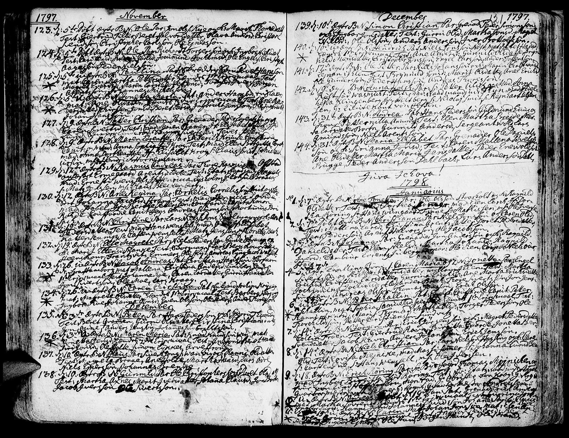 SAT, Ministerialprotokoller, klokkerbøker og fødselsregistre - Sør-Trøndelag, 601/L0039: Ministerialbok nr. 601A07, 1770-1819, s. 121