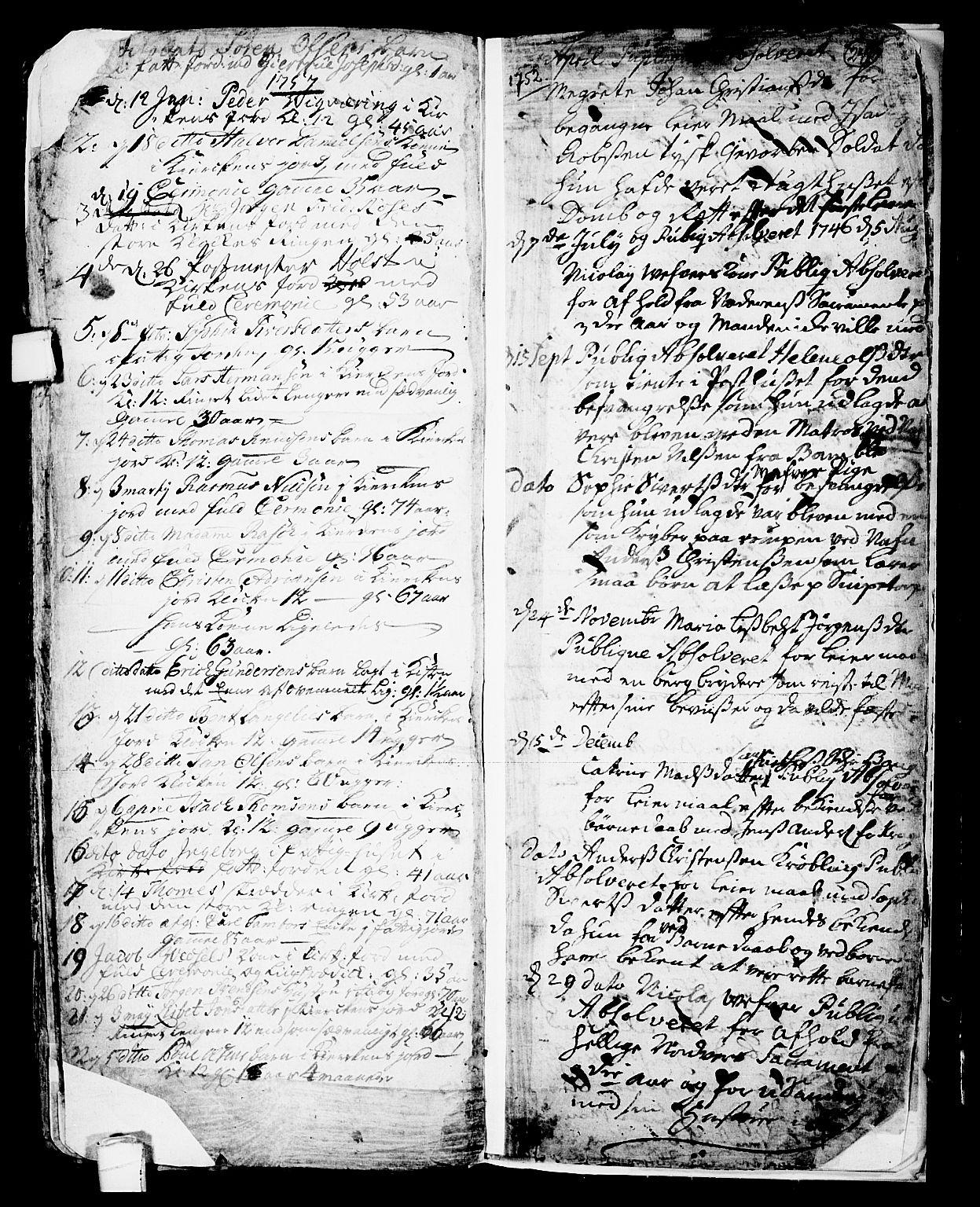 SAKO, Skien kirkebøker, F/Fa/L0002: Ministerialbok nr. 2, 1716-1757, s. 241
