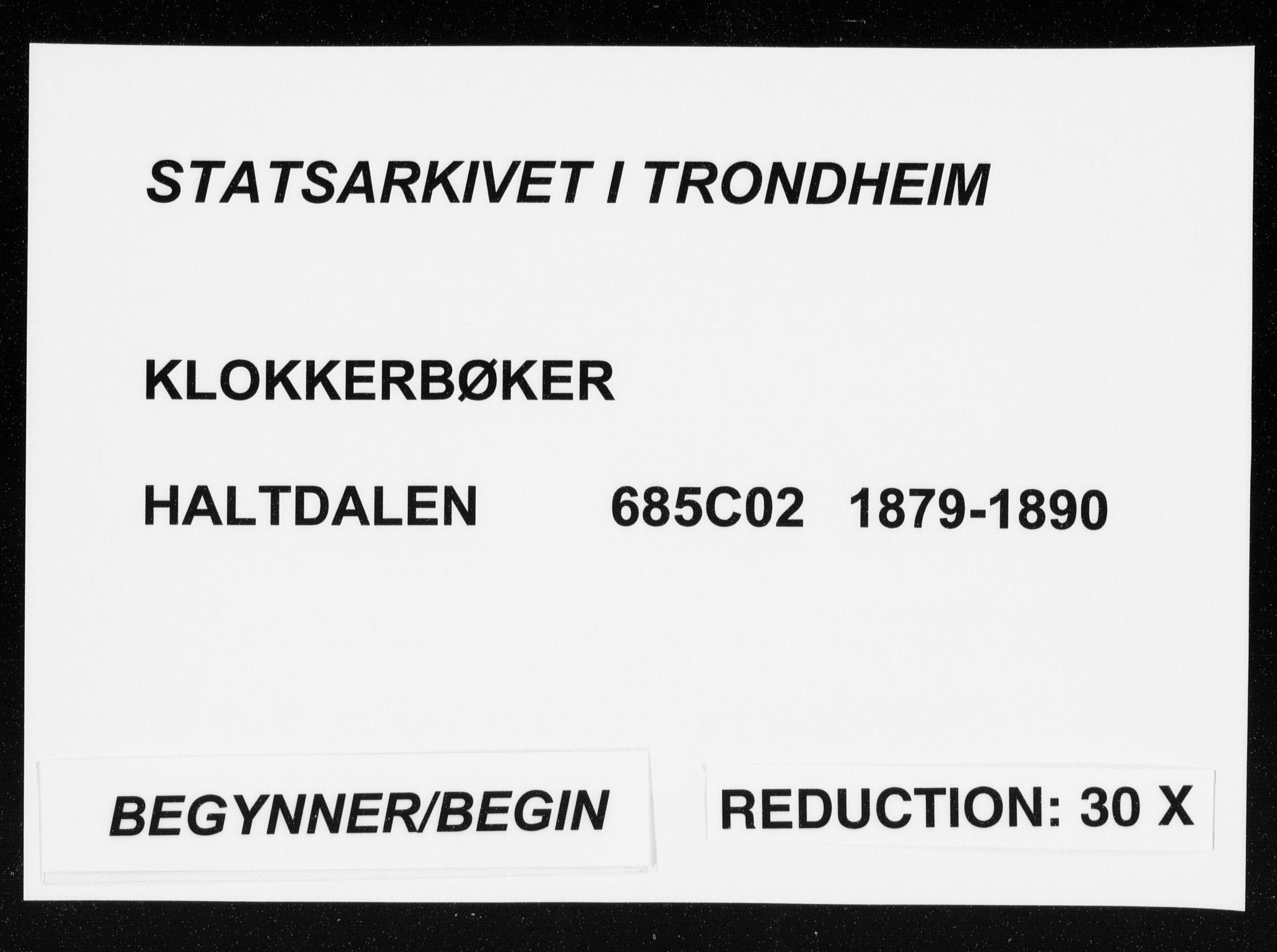SAT, Ministerialprotokoller, klokkerbøker og fødselsregistre - Sør-Trøndelag, 685/L0977: Klokkerbok nr. 685C02, 1879-1890