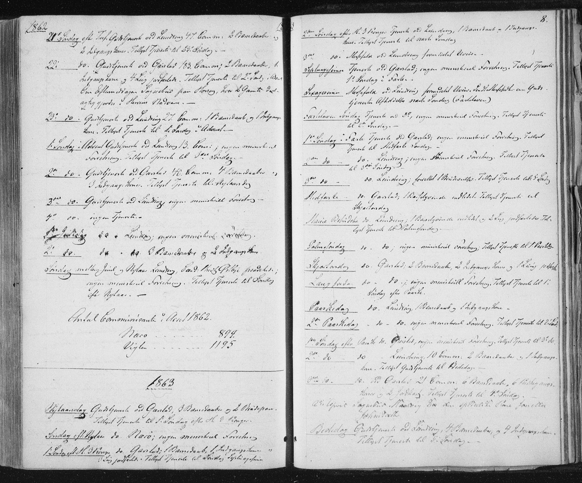 SAT, Ministerialprotokoller, klokkerbøker og fødselsregistre - Nord-Trøndelag, 784/L0670: Ministerialbok nr. 784A05, 1860-1876, s. 8
