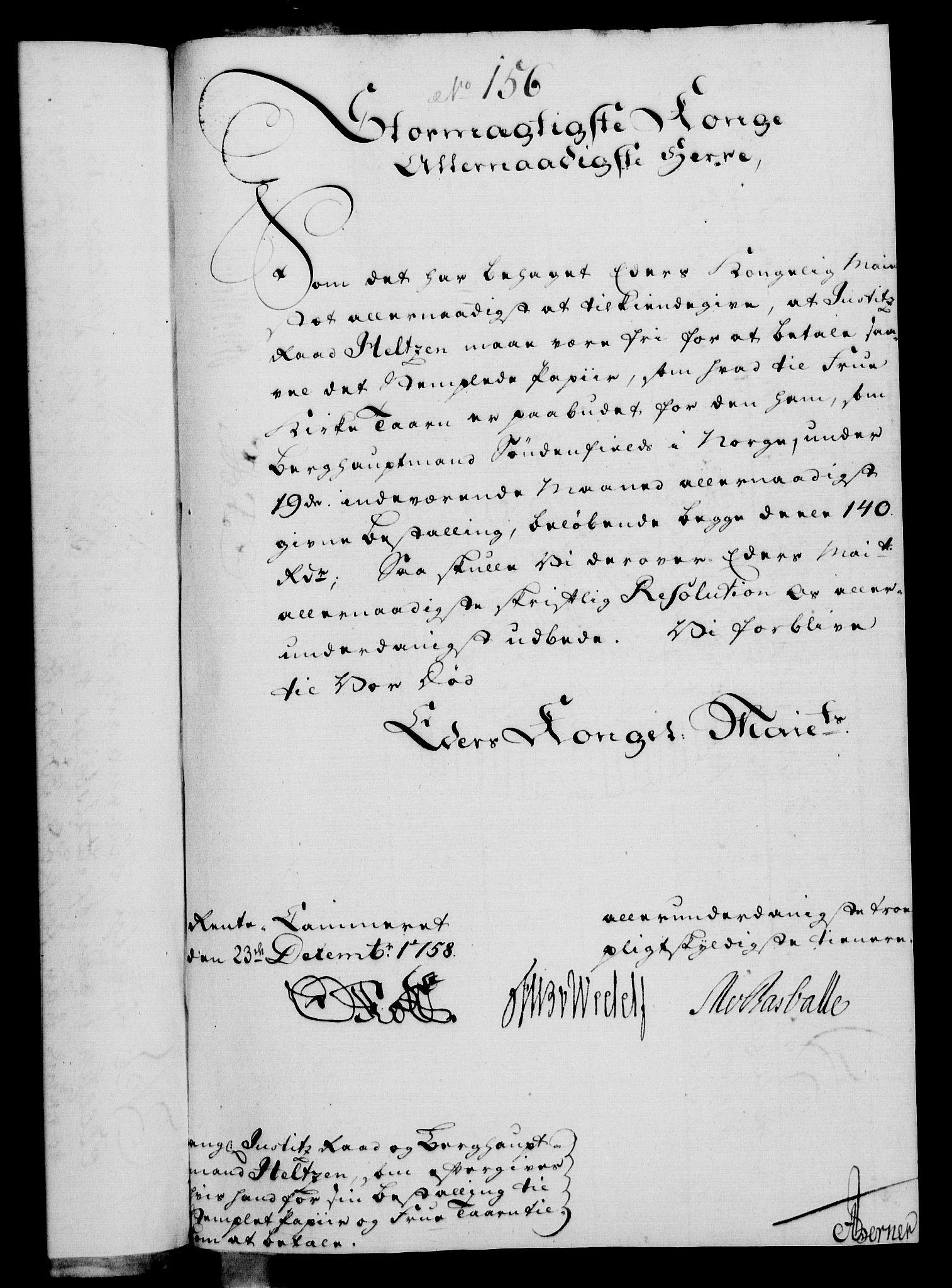RA, Rentekammeret, Kammerkanselliet, G/Gf/Gfa/L0040: Norsk relasjons- og resolusjonsprotokoll (merket RK 52.40), 1758, s. 809