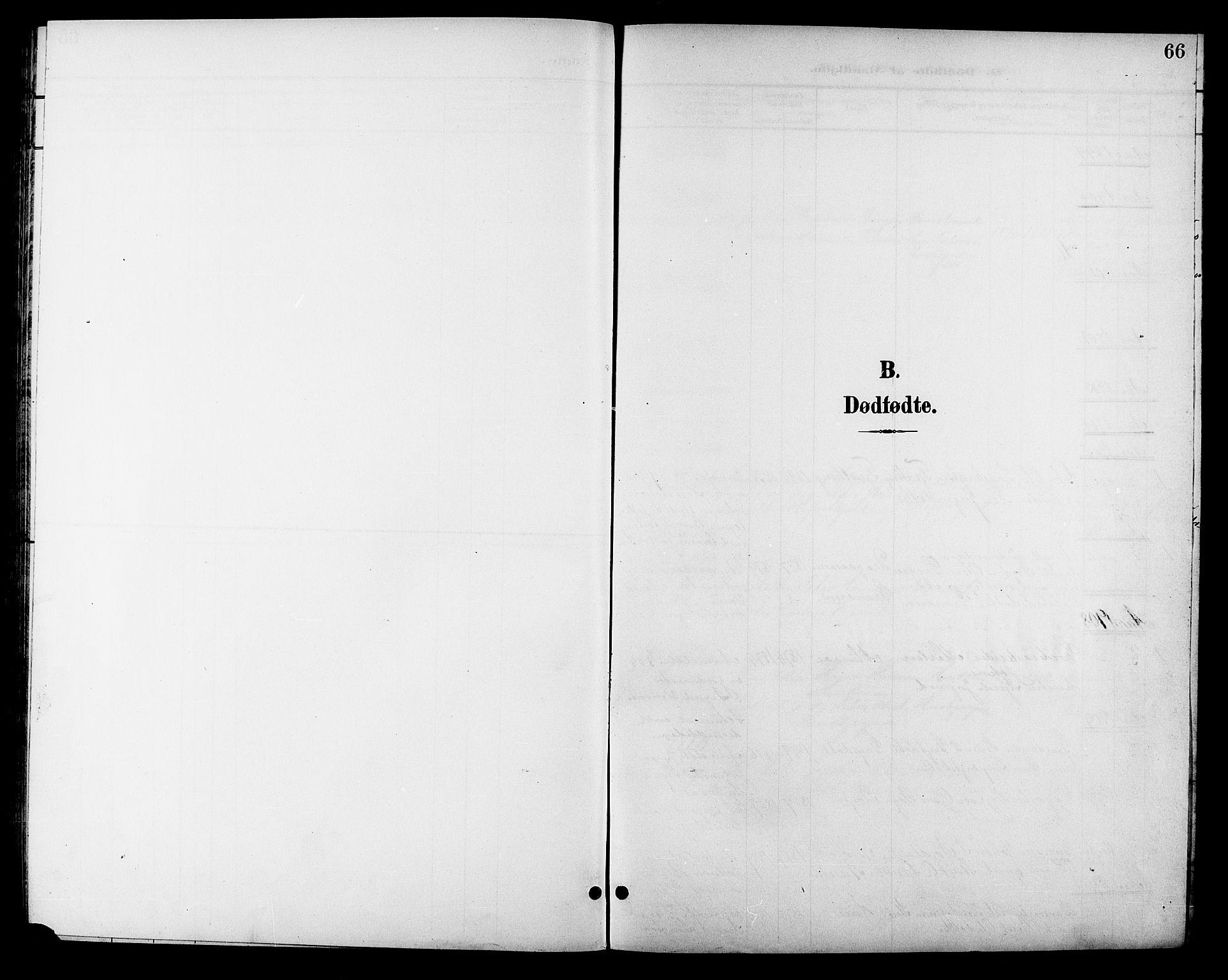 SAT, Ministerialprotokoller, klokkerbøker og fødselsregistre - Sør-Trøndelag, 688/L1029: Klokkerbok nr. 688C04, 1899-1915, s. 66