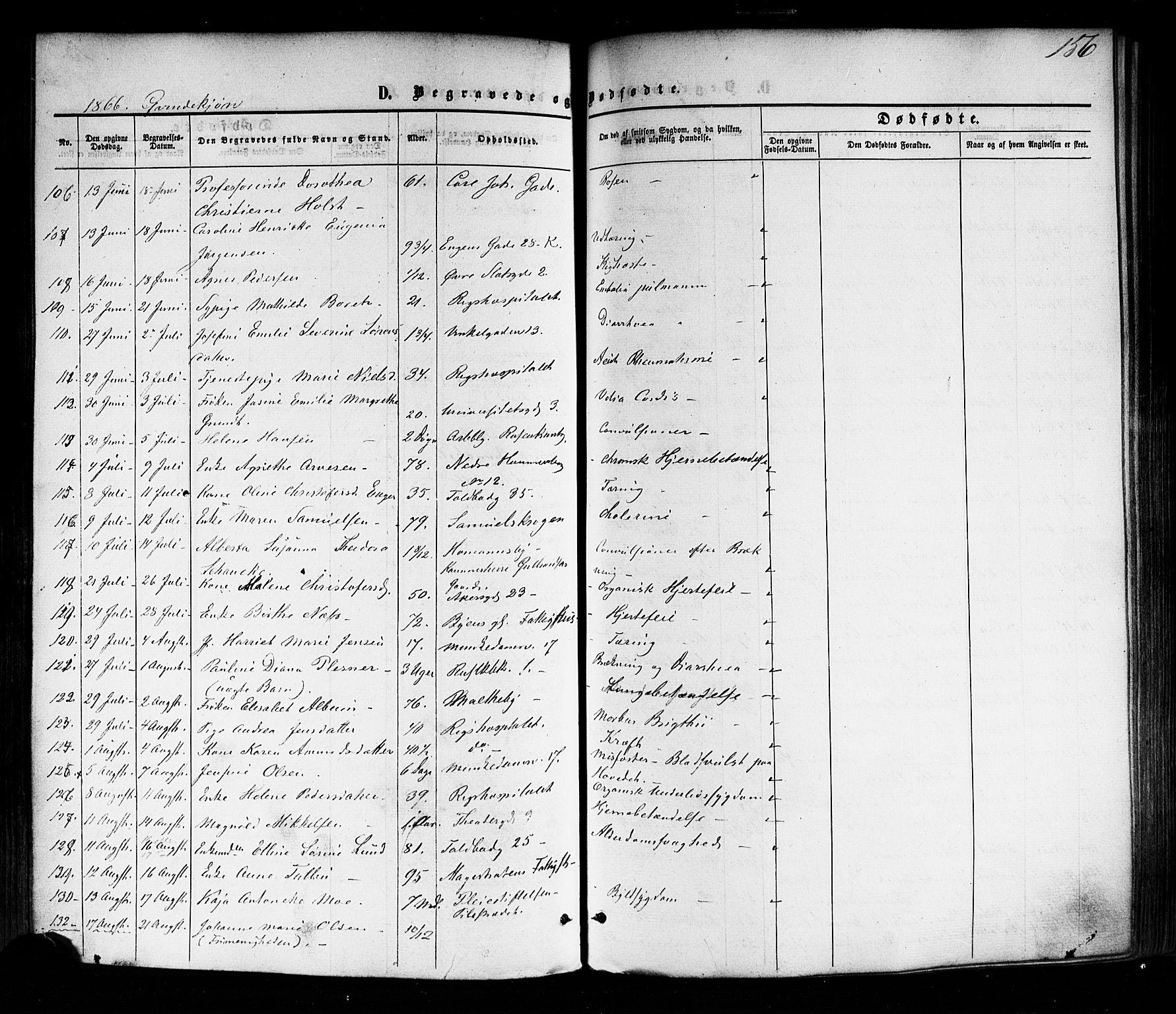 SAO, Trefoldighet prestekontor Kirkebøker, F/Fd/L0001: Ministerialbok nr. IV 1, 1858-1877, s. 156