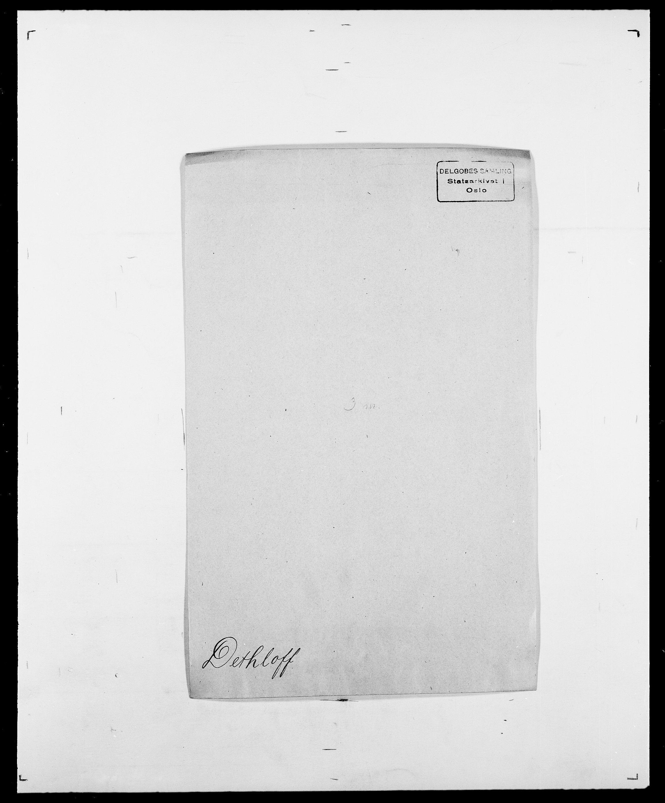 SAO, Delgobe, Charles Antoine - samling, D/Da/L0009: Dahl - v. Düren, s. 497