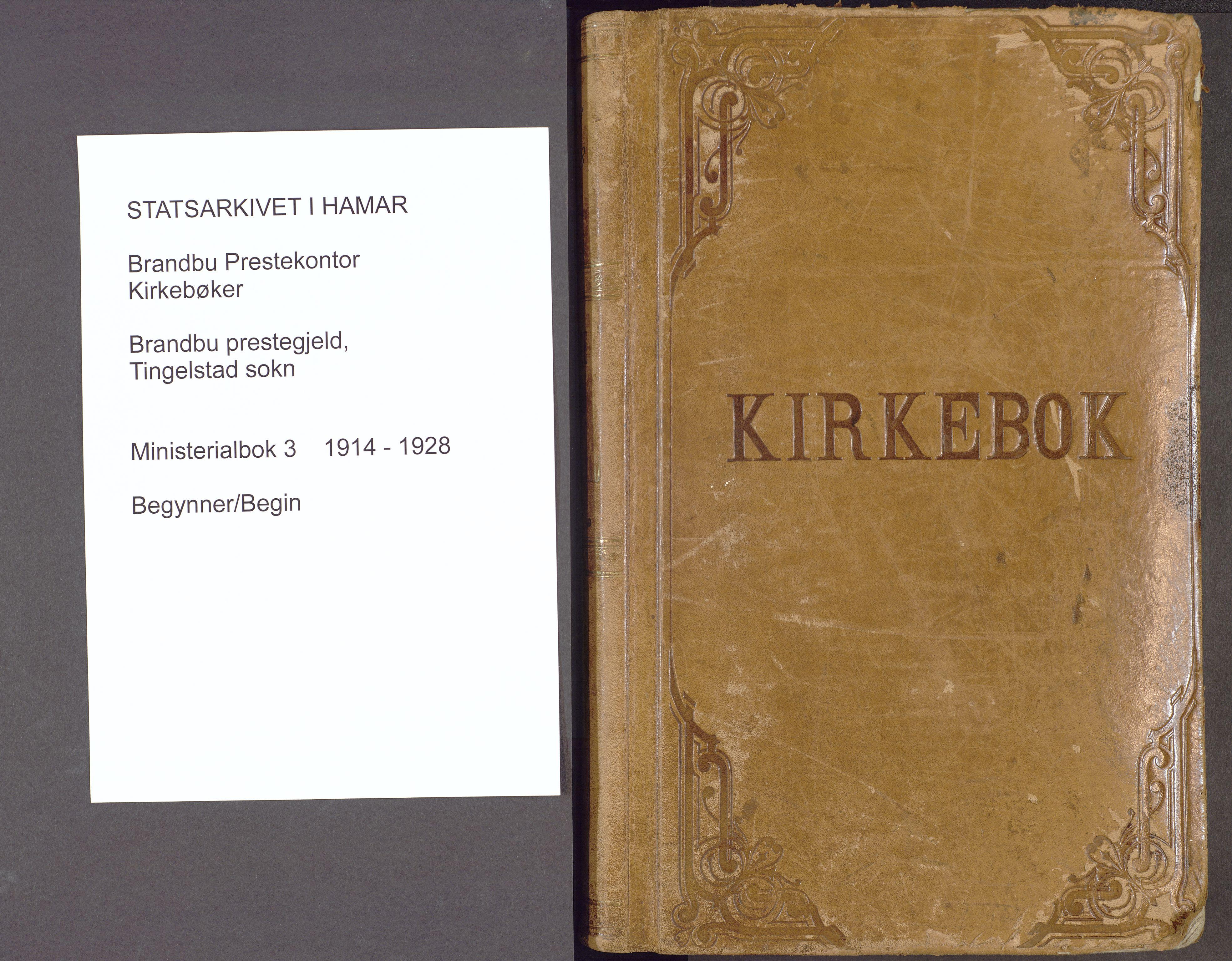 SAH, Brandbu prestekontor, Ministerialbok nr. 3, 1914-1928