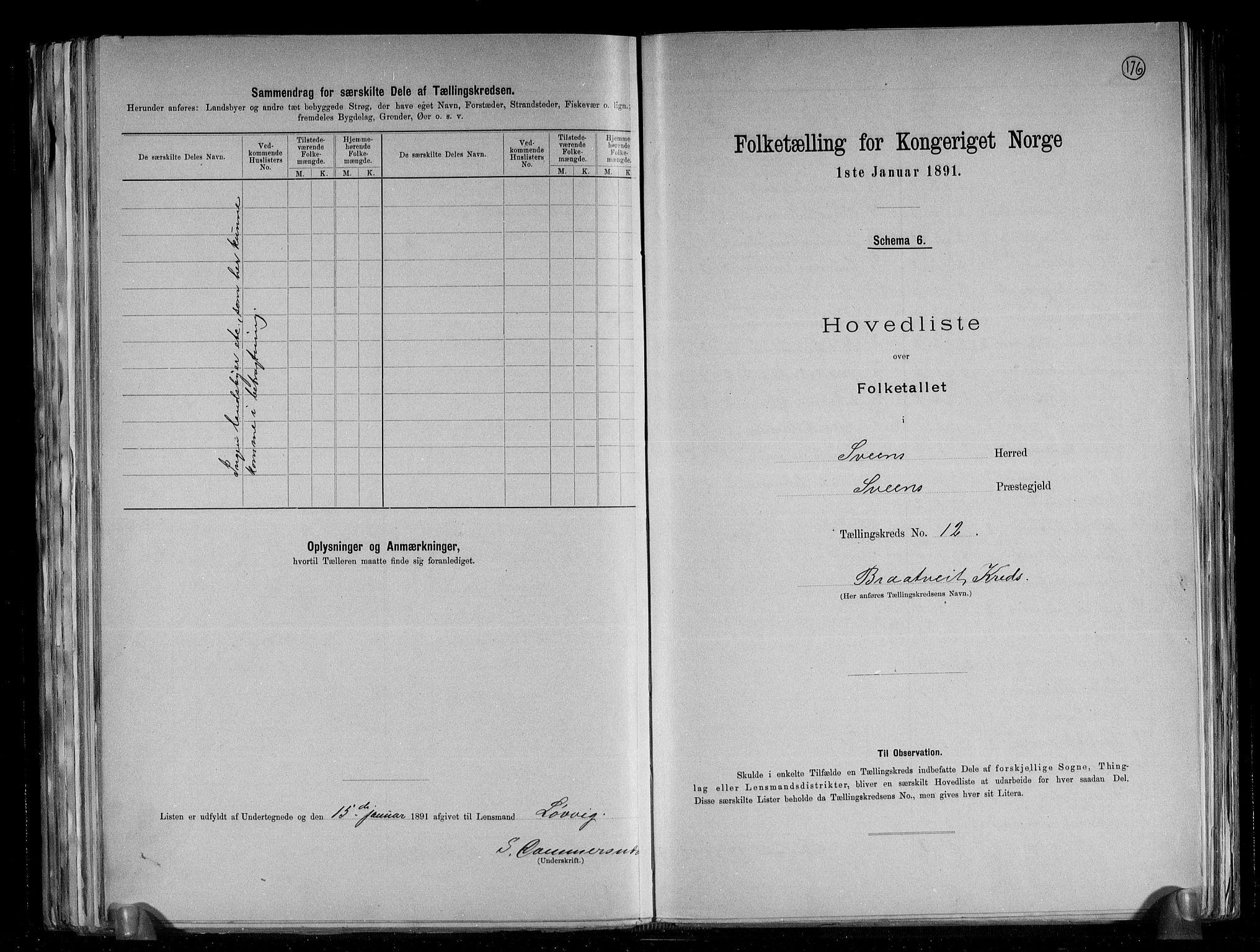 RA, Folketelling 1891 for 1216 Sveio herred, 1891, s. 26