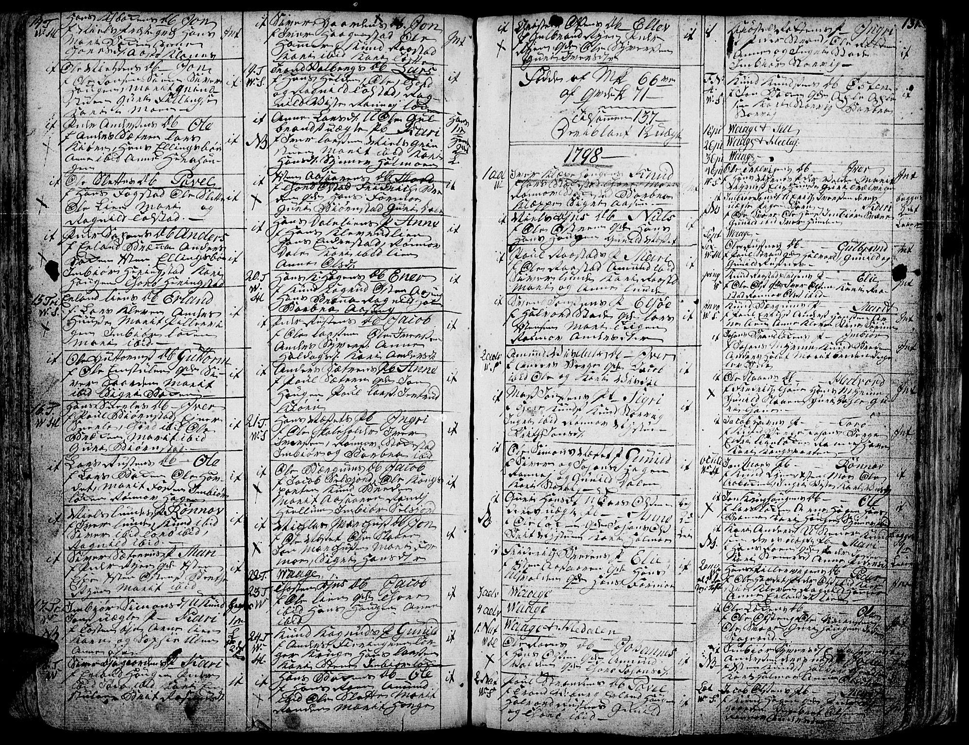 SAH, Vågå prestekontor, Ministerialbok nr. 1, 1739-1810, s. 131