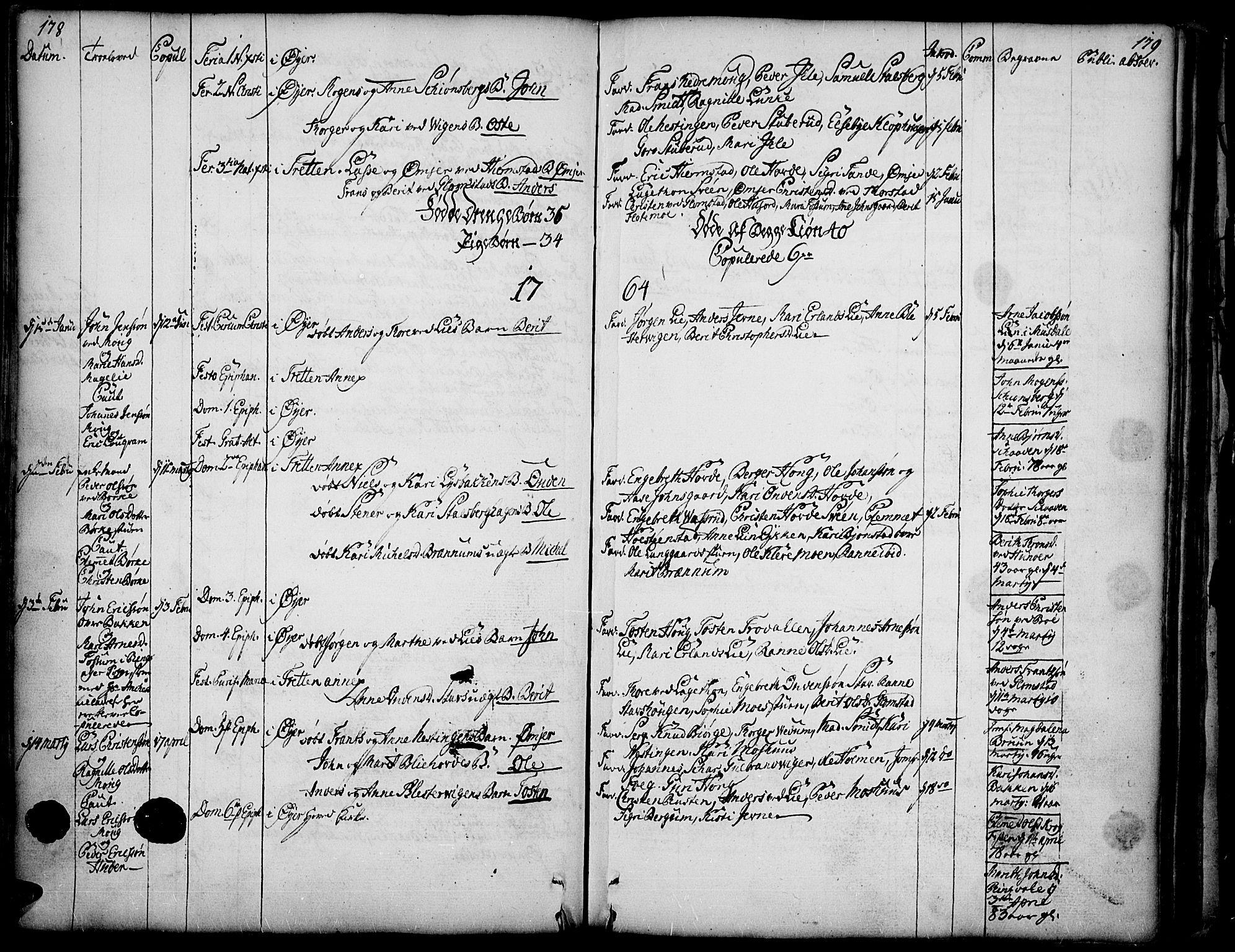 SAH, Øyer prestekontor, Ministerialbok nr. 2, 1733-1784, s. 178-179