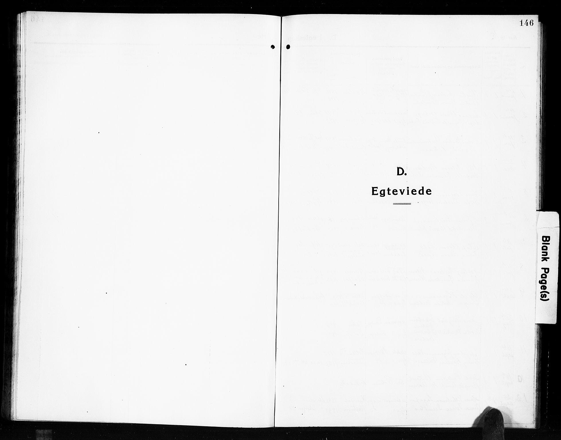 SAKO, Solum kirkebøker, G/Gb/L0006: Klokkerbok nr. II 6, 1915-1927, s. 146